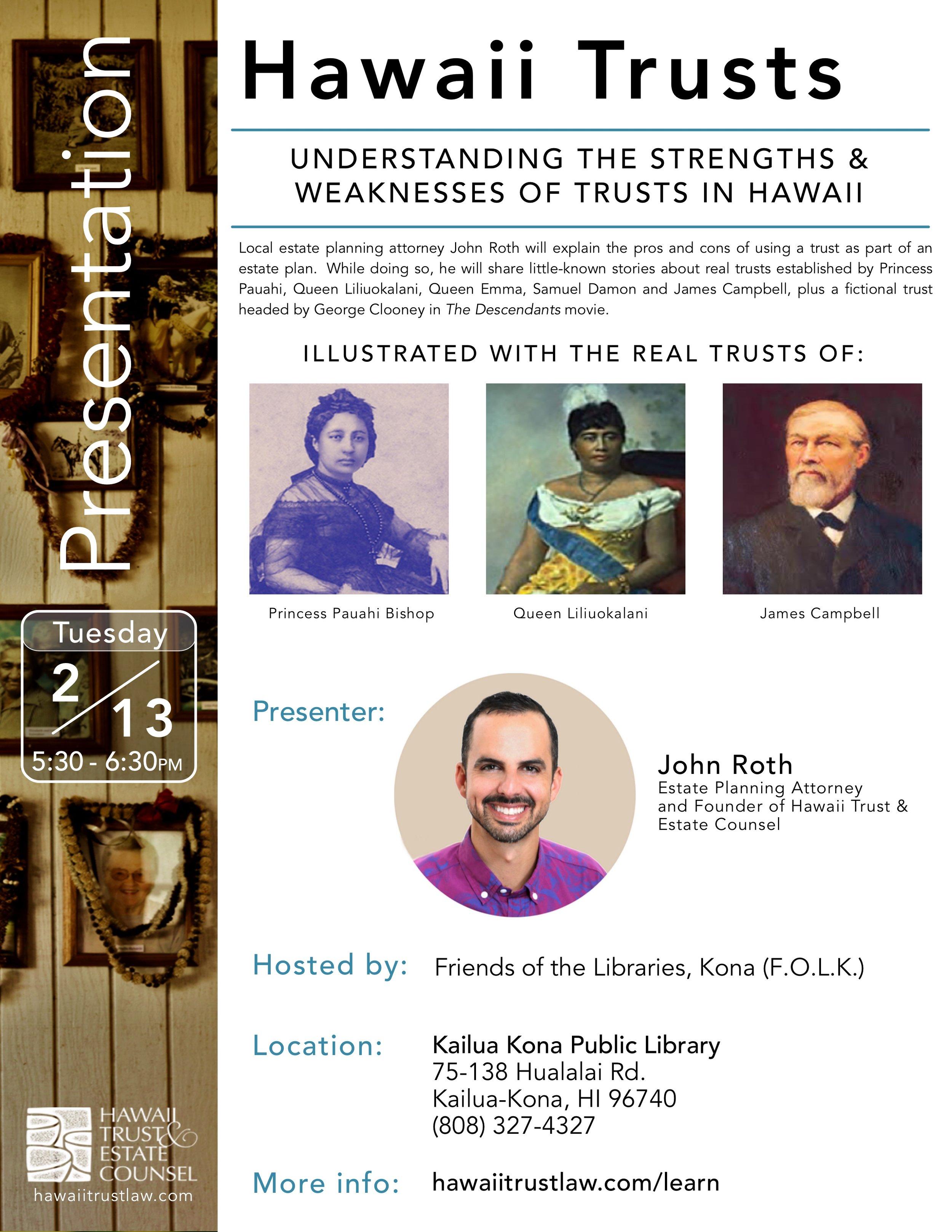 Hawaii Trust Presentation