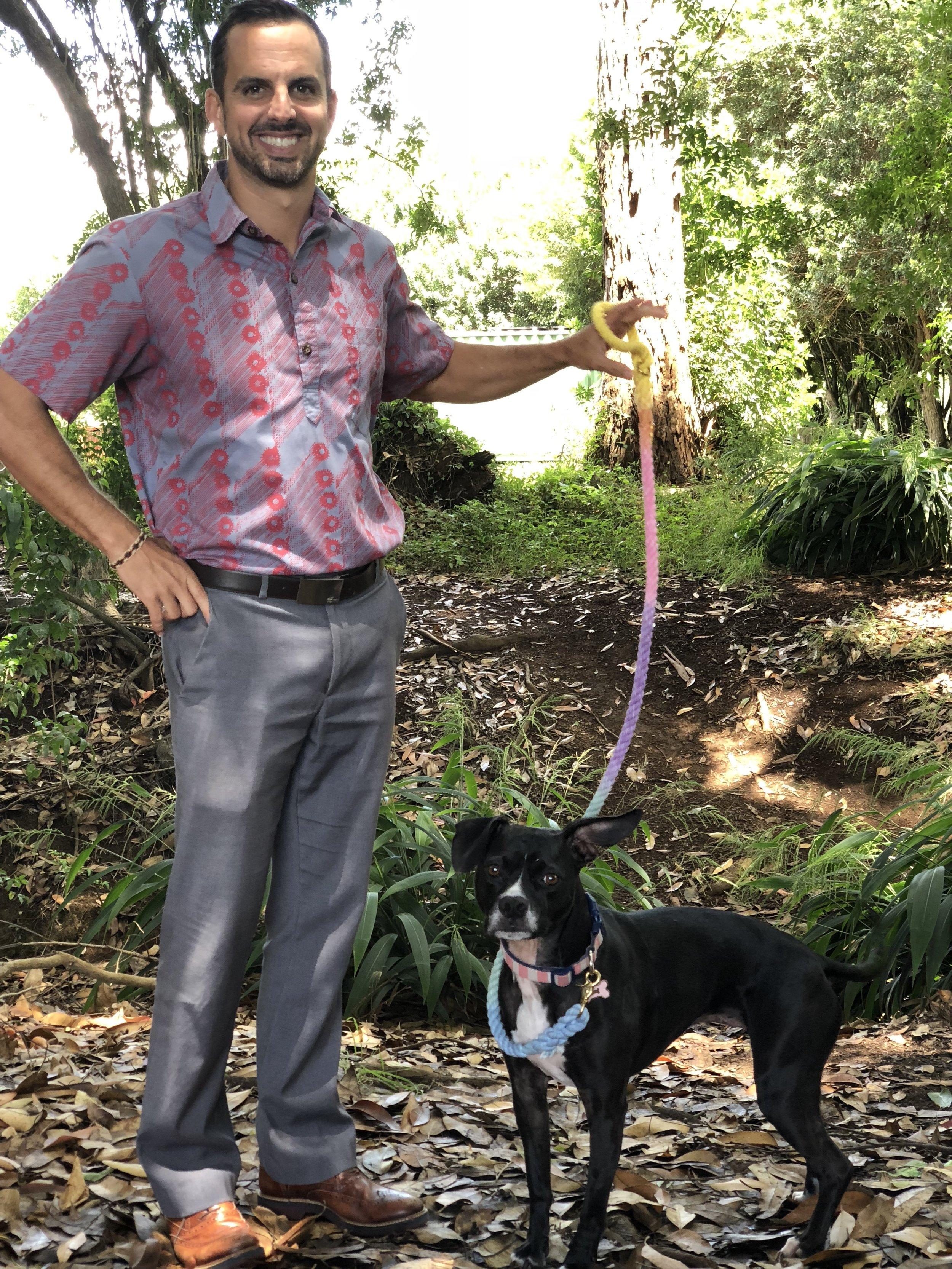 John and his dog Hanai