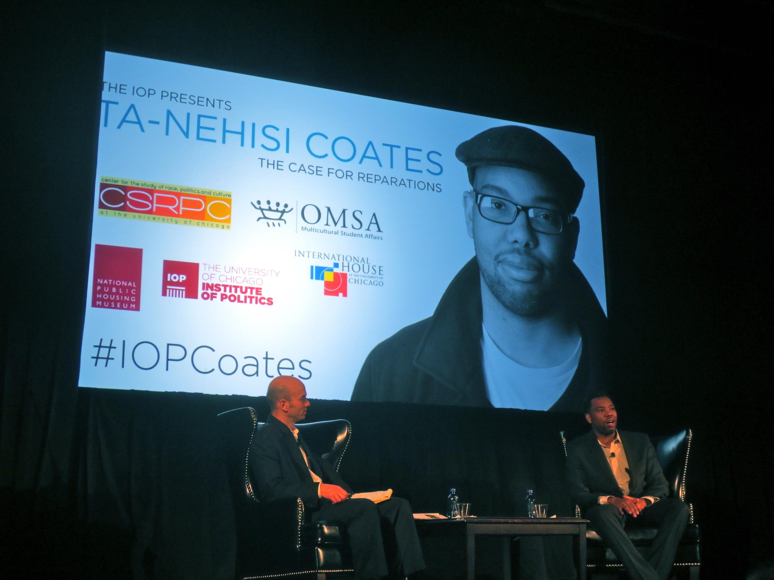 Ta-Nehisi Coates event at the University of Chicago. Photo: Daniel Ronan