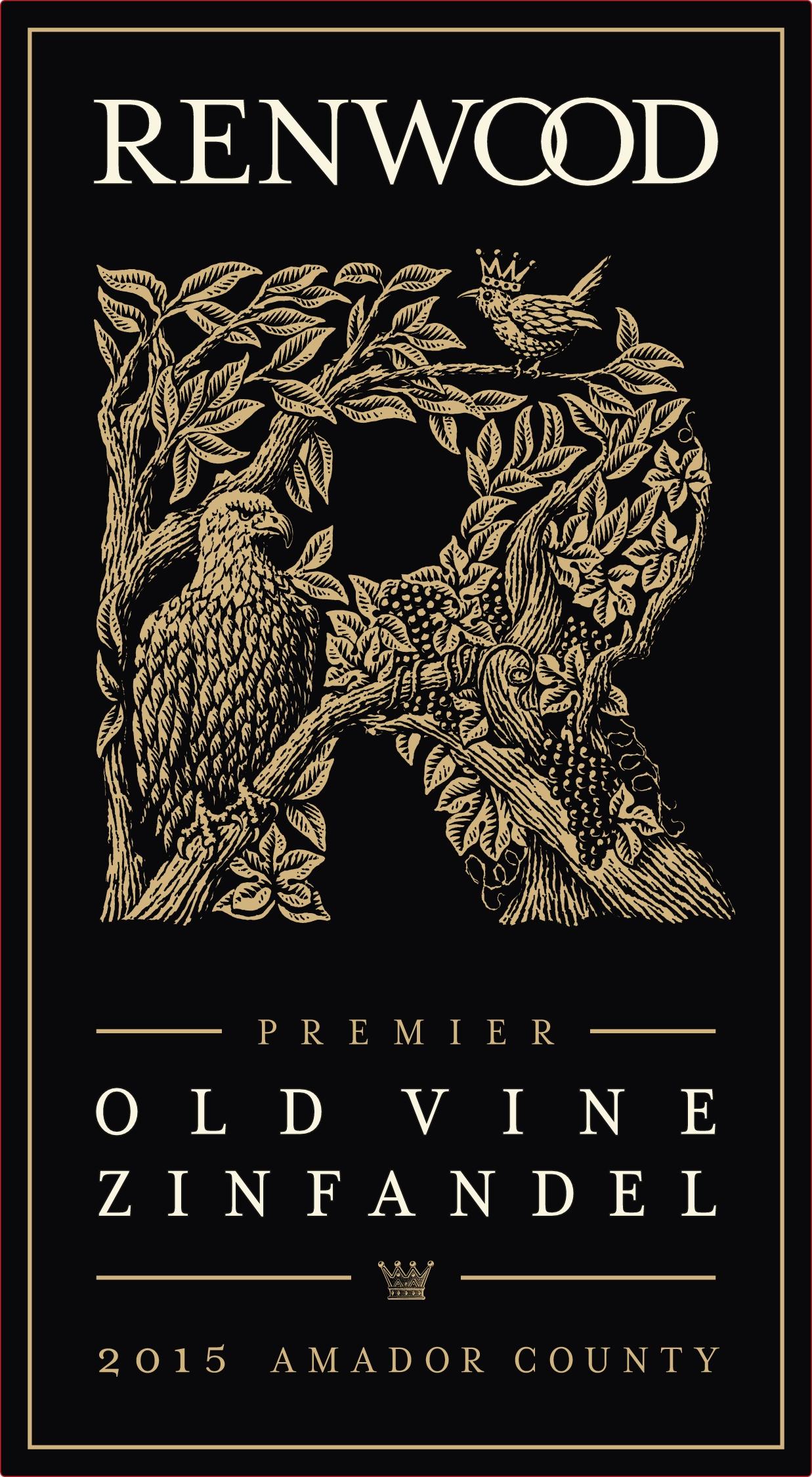 Renwood Premier Old Vine Zinfandel 2015 Front Label.jpg