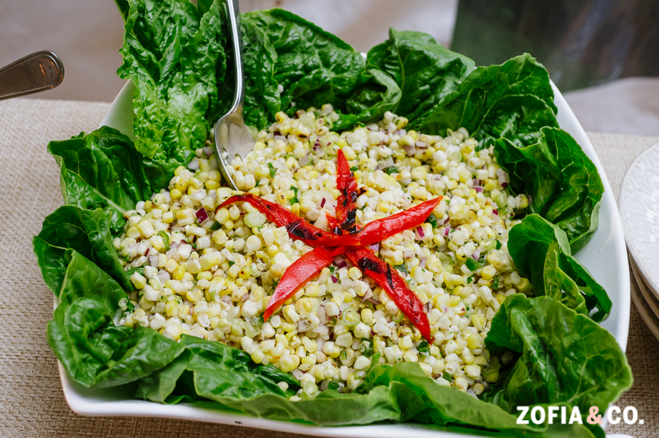 Roasted Corn Salad with Cilantro and Lime Vinaigrette