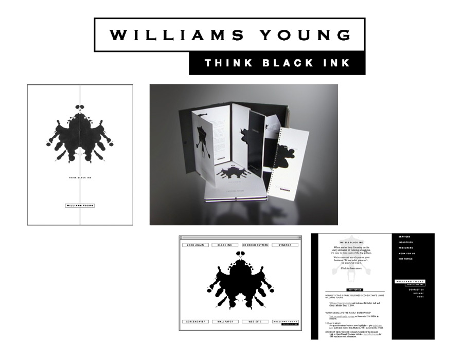 """Williams-Young Accounting """"Think Black Ink"""" Collateral"""