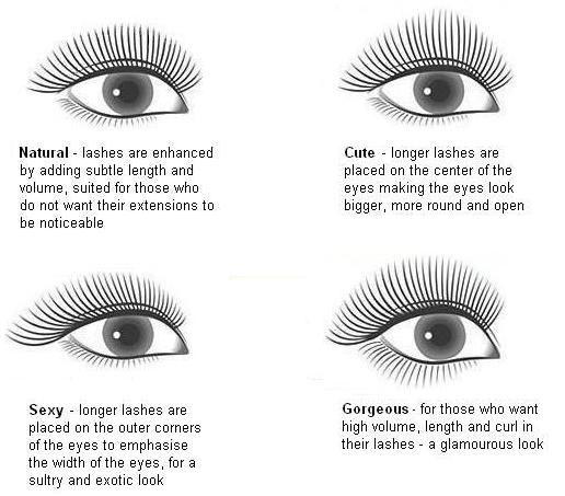 eyelash application design / style