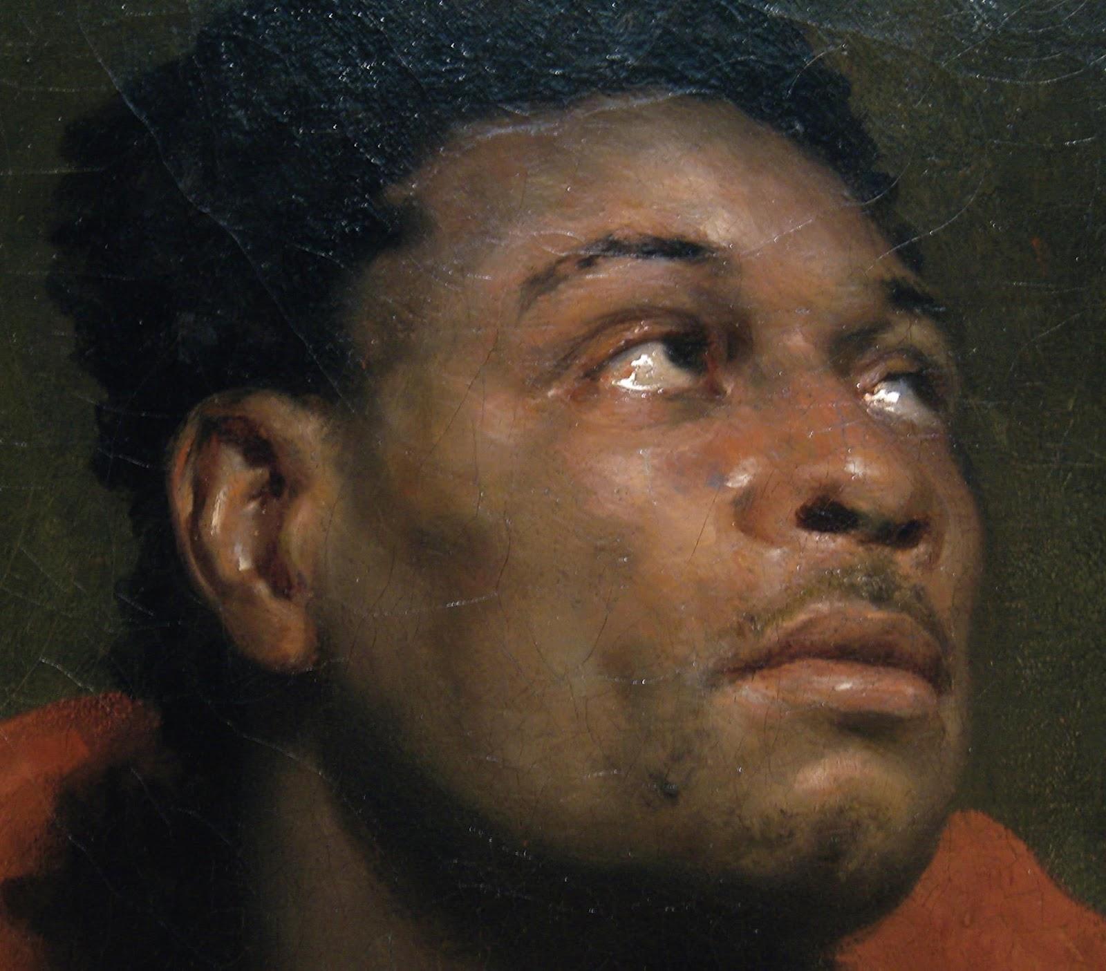 Detail of   The Captive Slave     image courtesy of Juan J. Ramirez