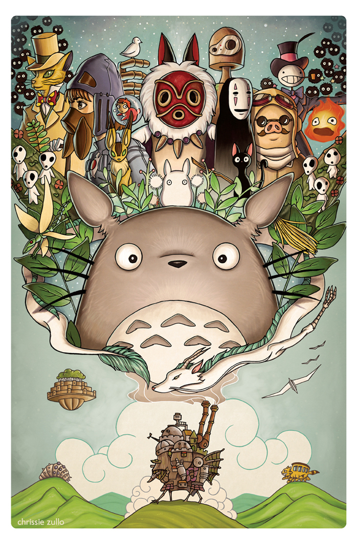 A tribute to Hayao Miyazaki by Chrissie Zullo