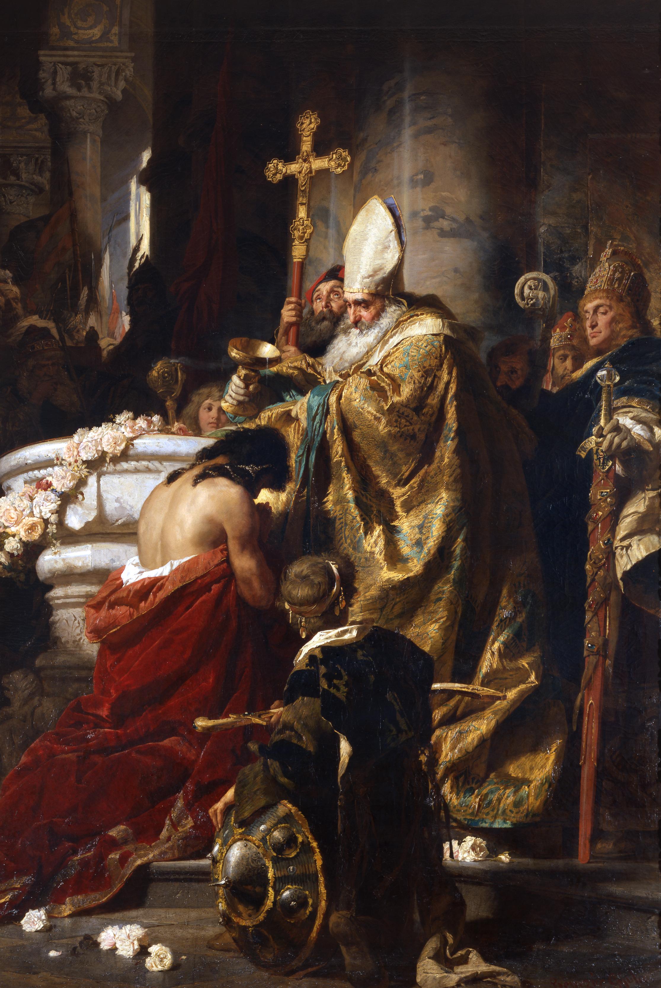 Gyula Benczúr - Baptism of Vajk