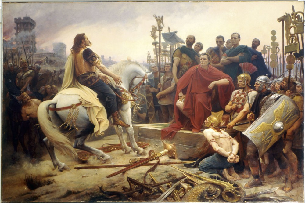 Lionel Royer -   Vercingétorix Throwing his Weapons at the Feet of Caesar