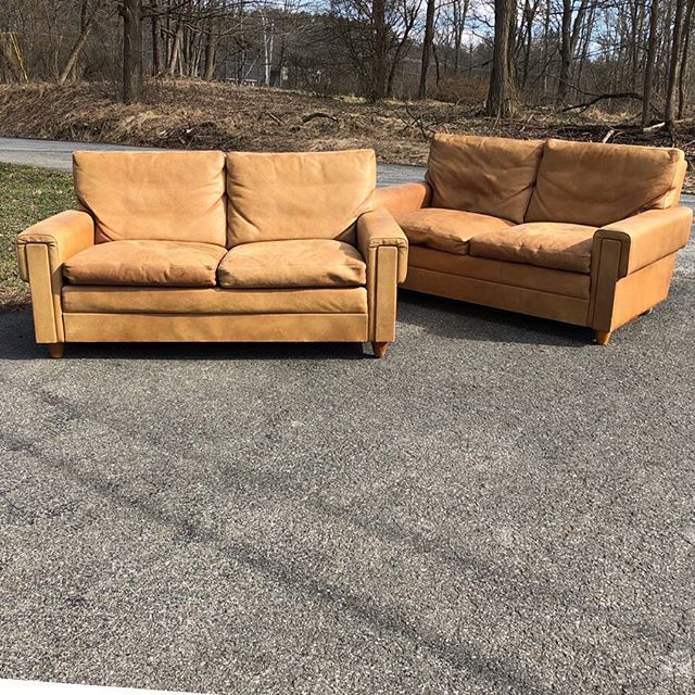"54"" x 30"" deep x 27"" tall x 15"" seat 2200 each.  #slamdunk #livingroom #lounge #leather #loveseat #design #interiors #home #apartment #loveseats #style #class #matchymatchy"