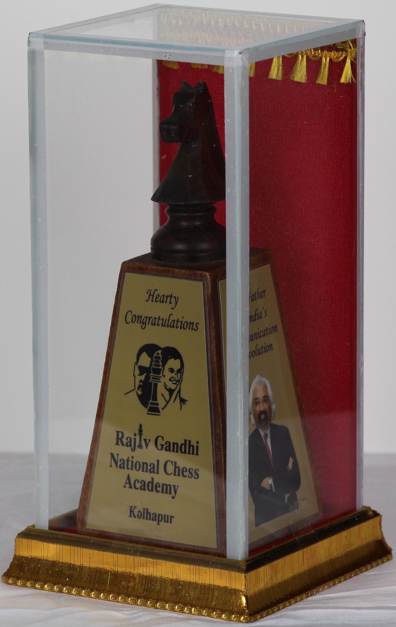 Award of Appreciation, Rajiv Gandhi National Chess Academy, Kanpur