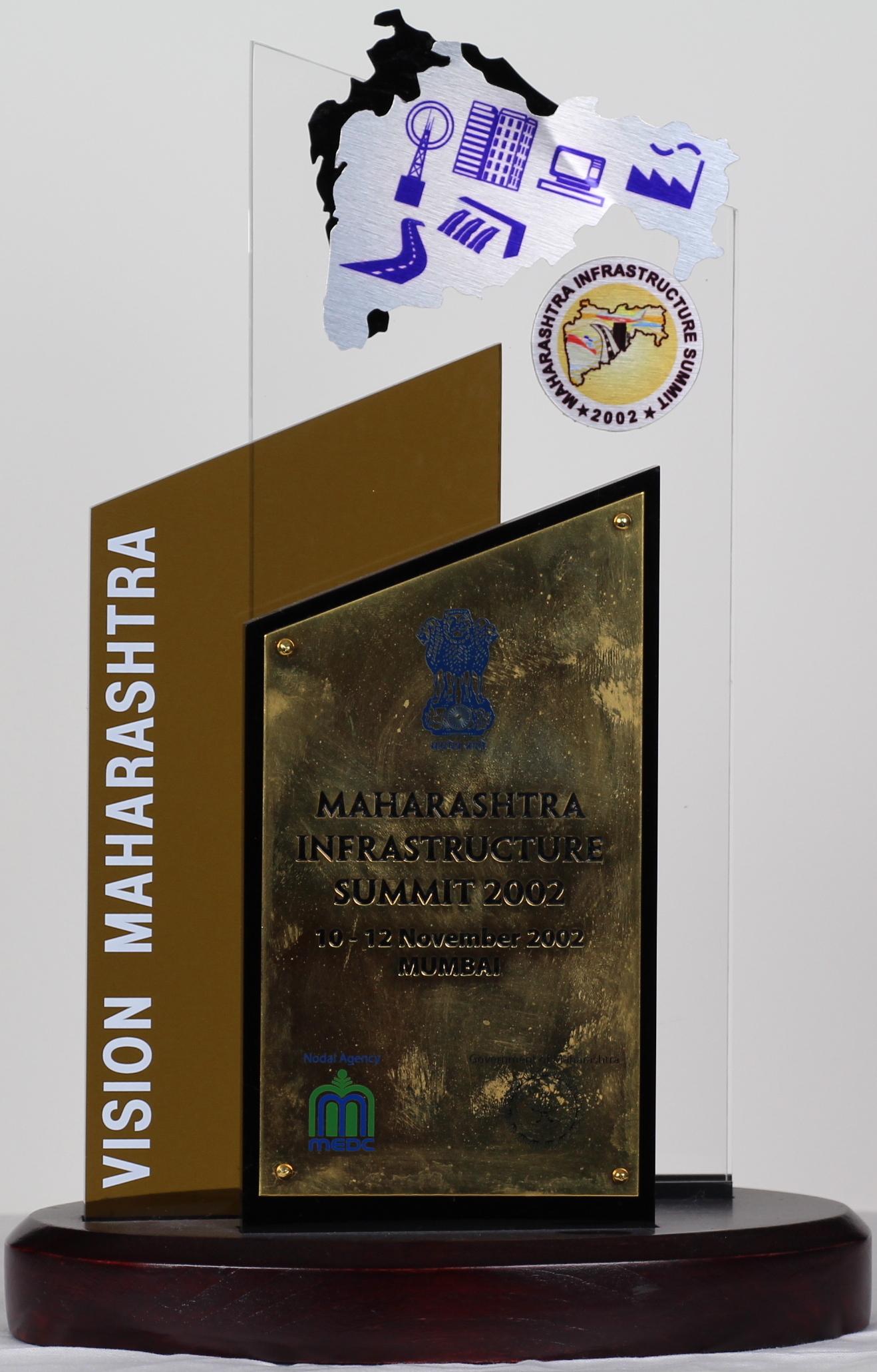 Recognition Award, Vision Maharashtra, Summit 2002, Mumbai
