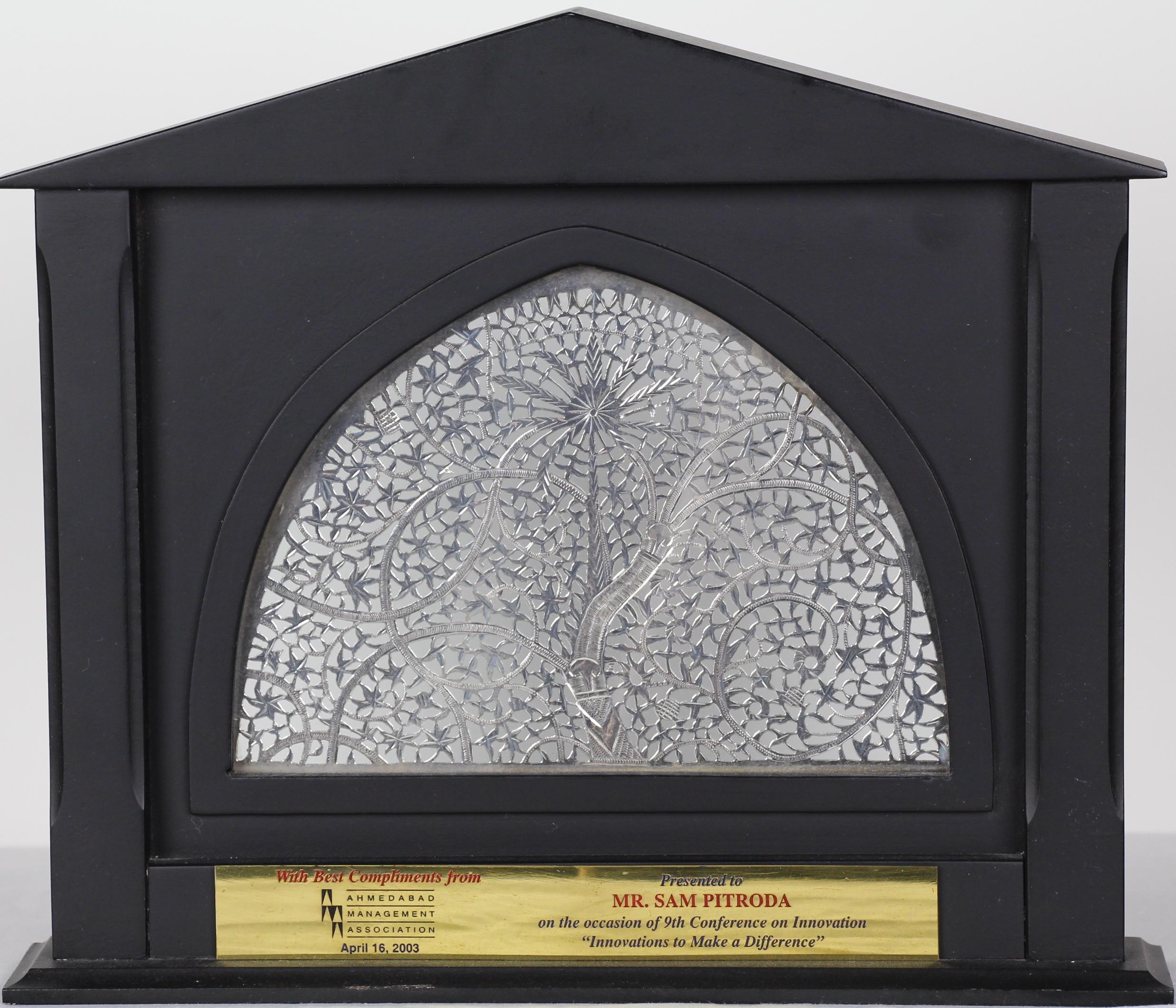 Recognition Award, Ahmadabad Management Association, 2003