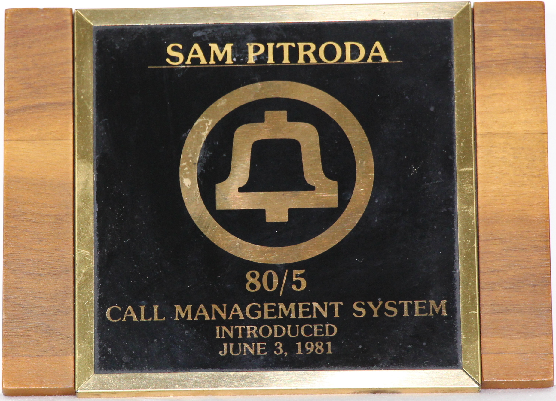 Recognition Award for 80/5 Call Management System Introduced, 1981