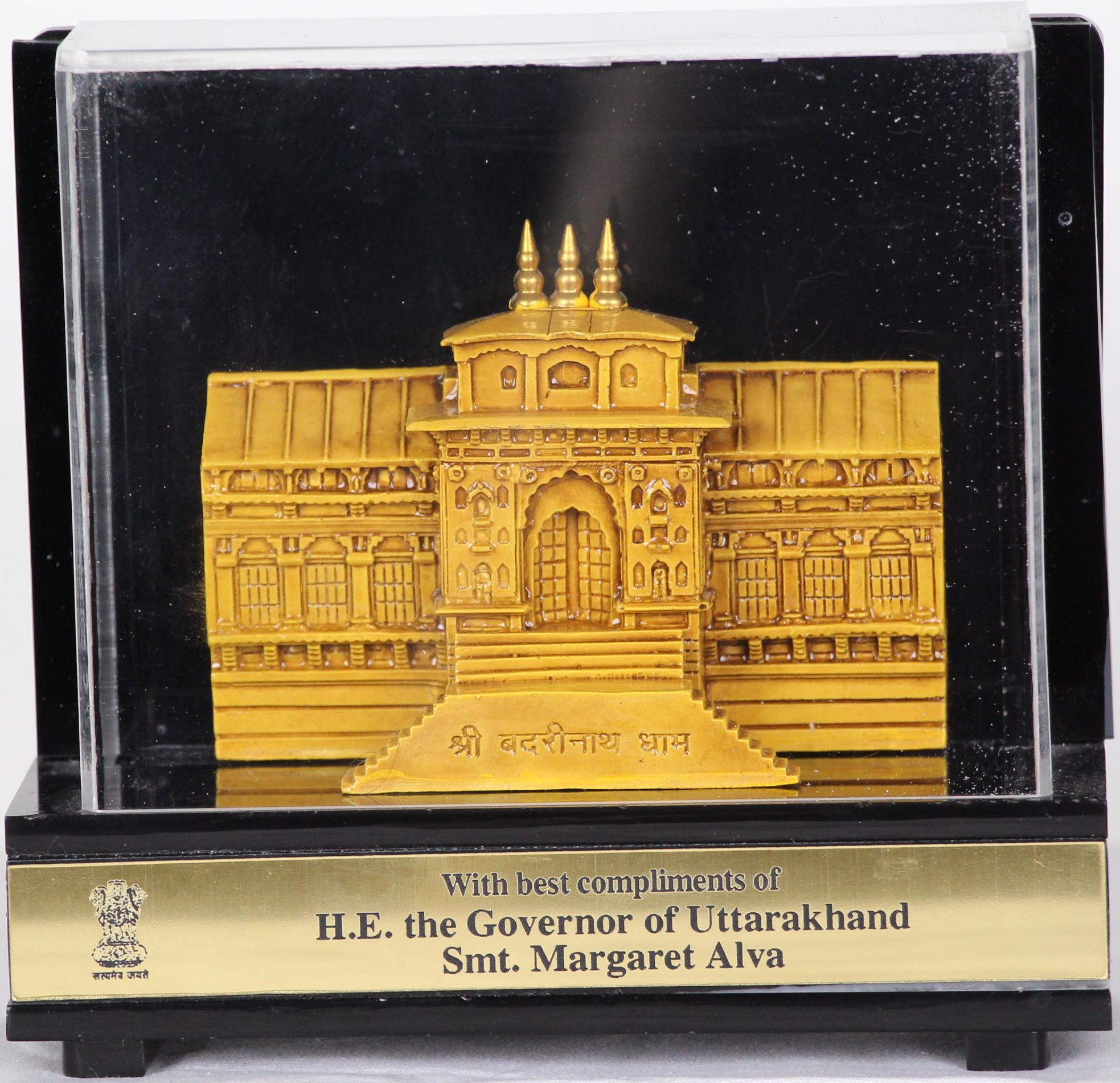 Award of Appreciation from H. E. the Governor of Uttarakhand, Smt. Margaret Alva
