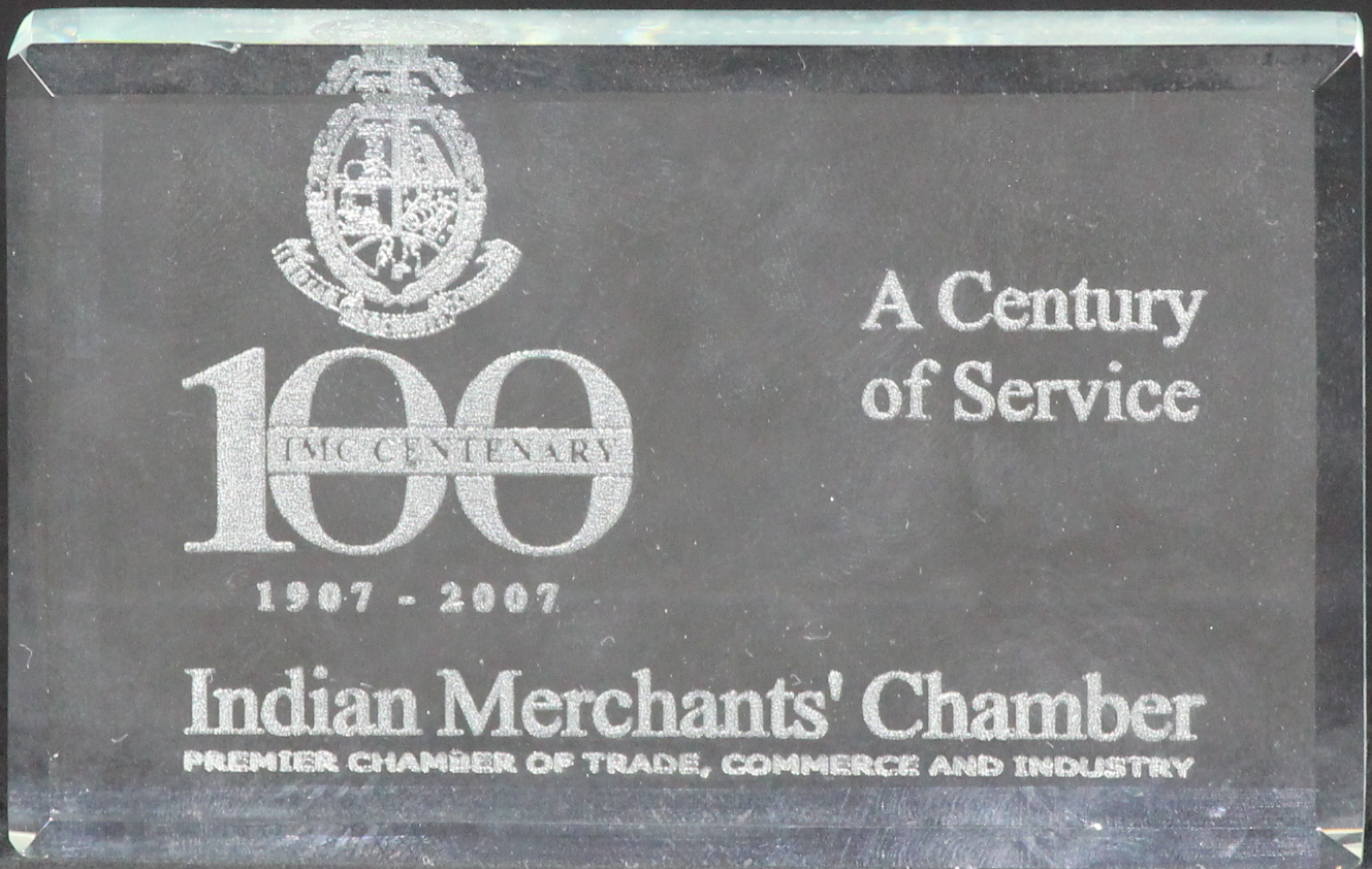 A Century of Service Award, Indian Merchant's Chamber, PCTCI