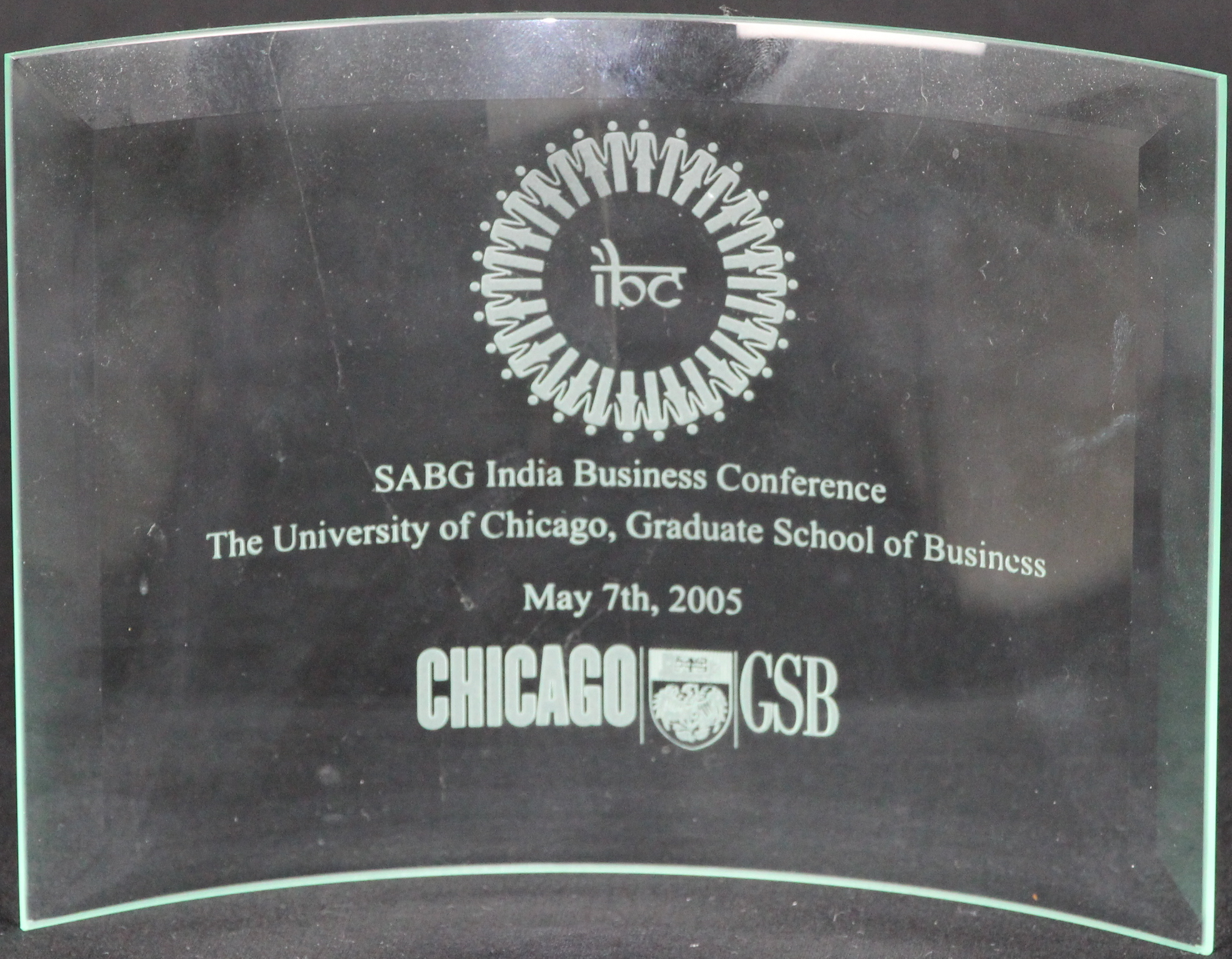 Recognition Award, SABG India Conference, University of Chicago, 2005