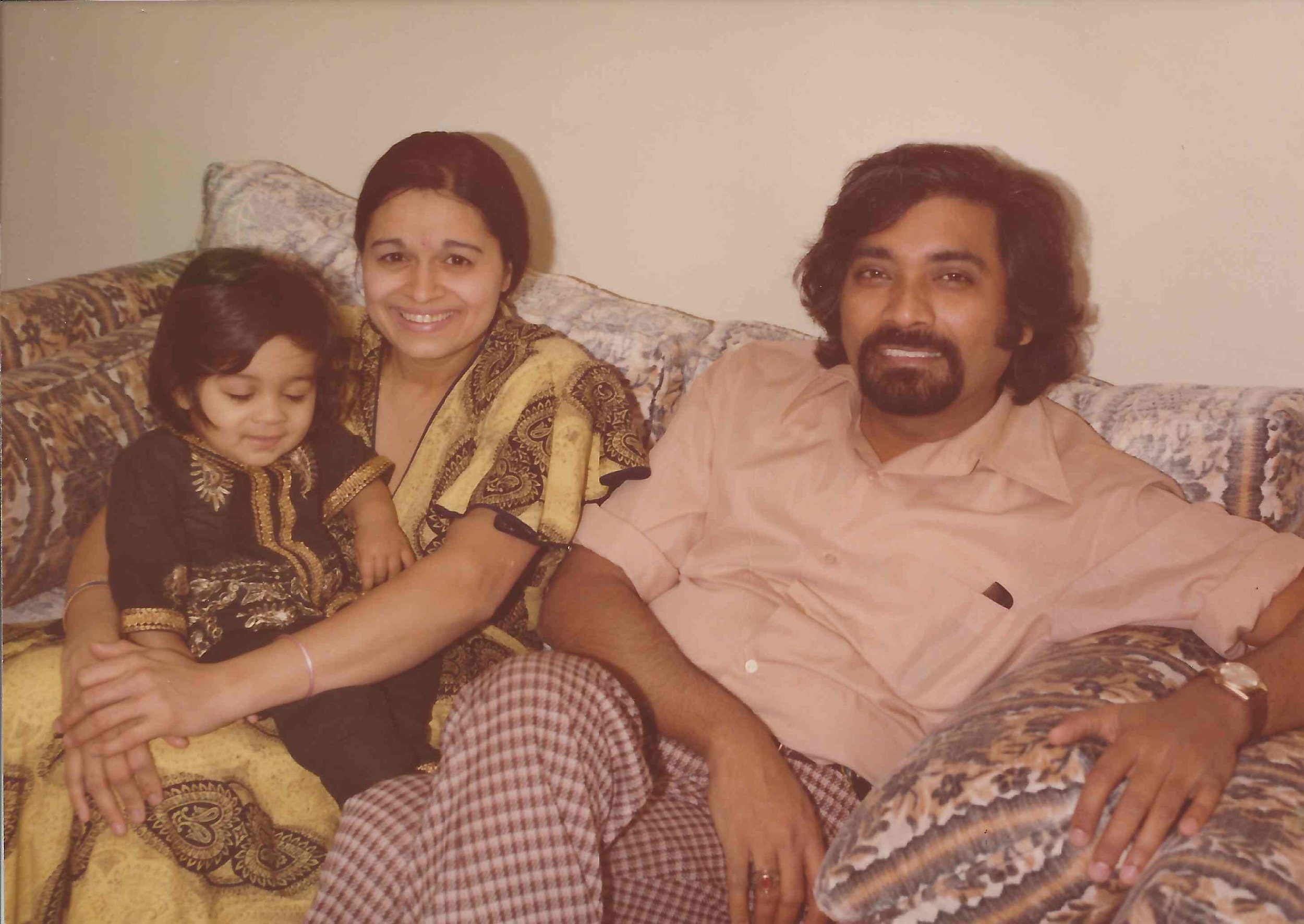 Sam, Anu and Salil relaxing at home