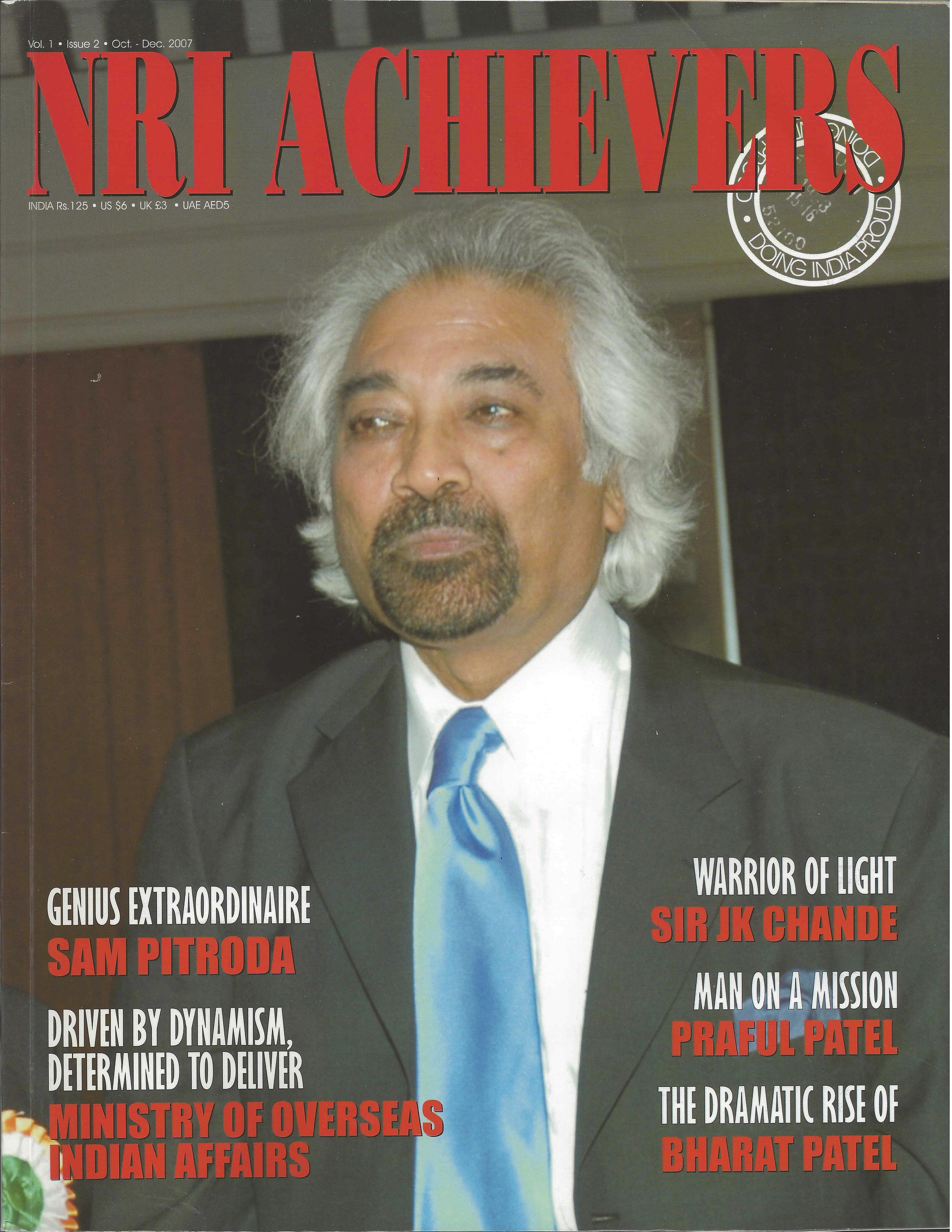 """""""Genius Extraordinaire Sam Pitroda,"""" NRI Achievers, 2007"""