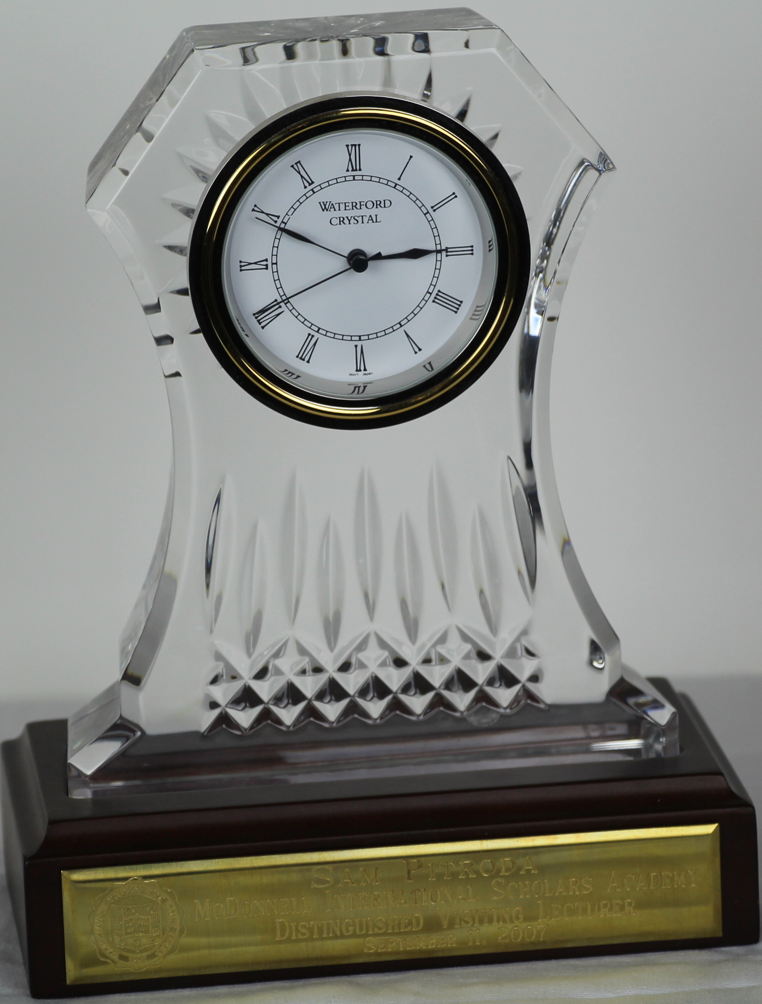 Distinguished Visiting Lecturer Award, McDonnell International Scholars Academy, 2007