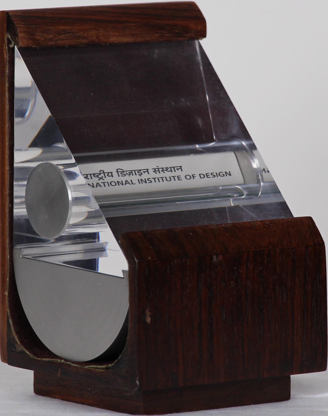 Award of Appreciation, National Institute of Design