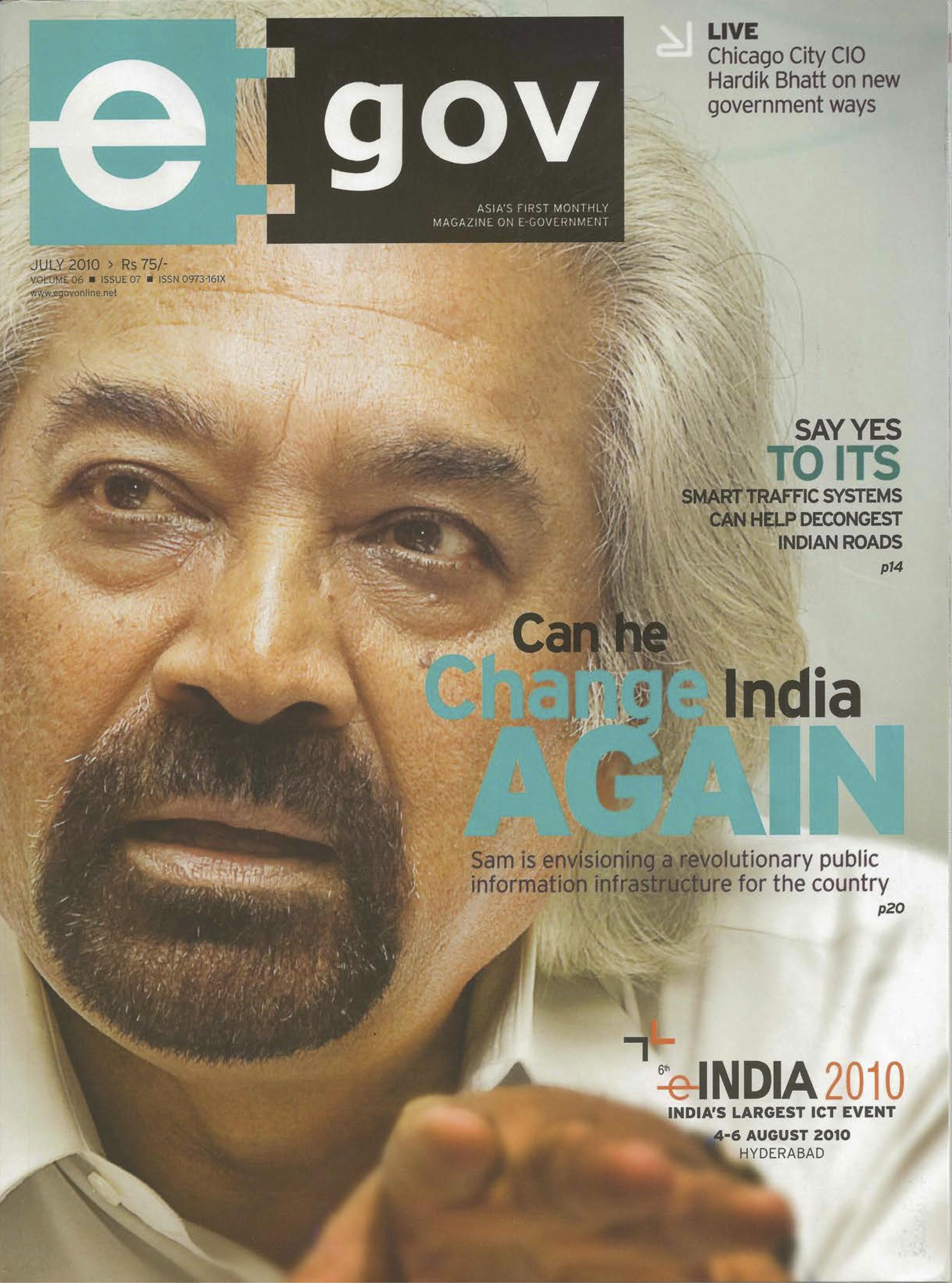 """Information Needs to be Democratized,"" e:gov magazine, 2010"