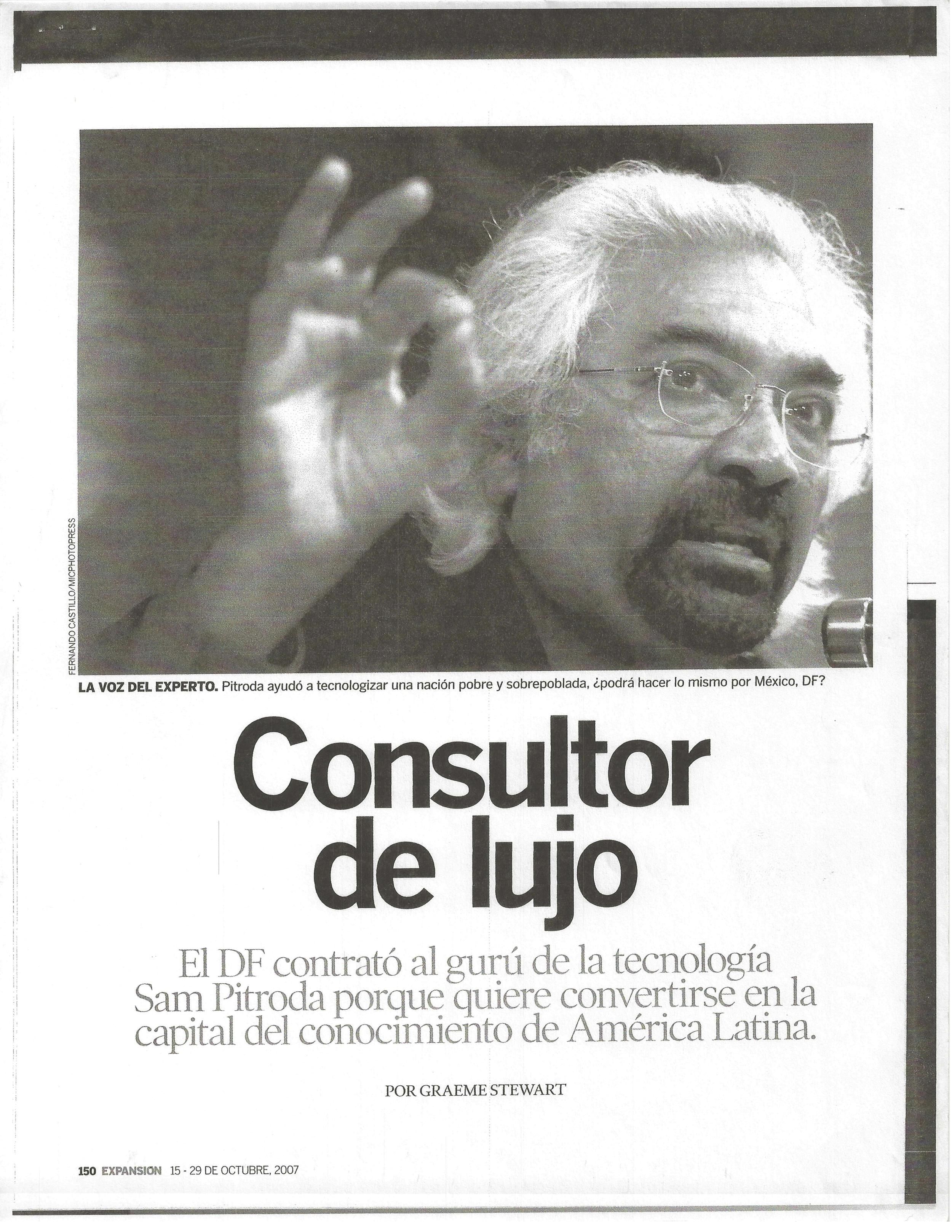 """""""Luxury Consultant,"""" Expansion Magazine, 2007"""