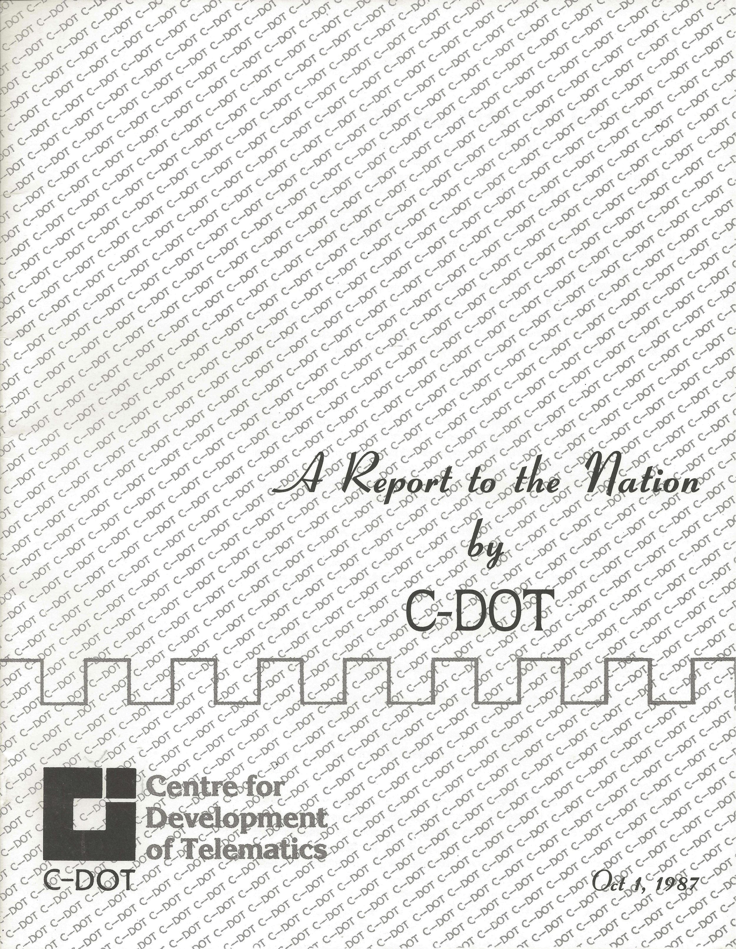 C-DOT A report to the National OCT 1 1987.jpg