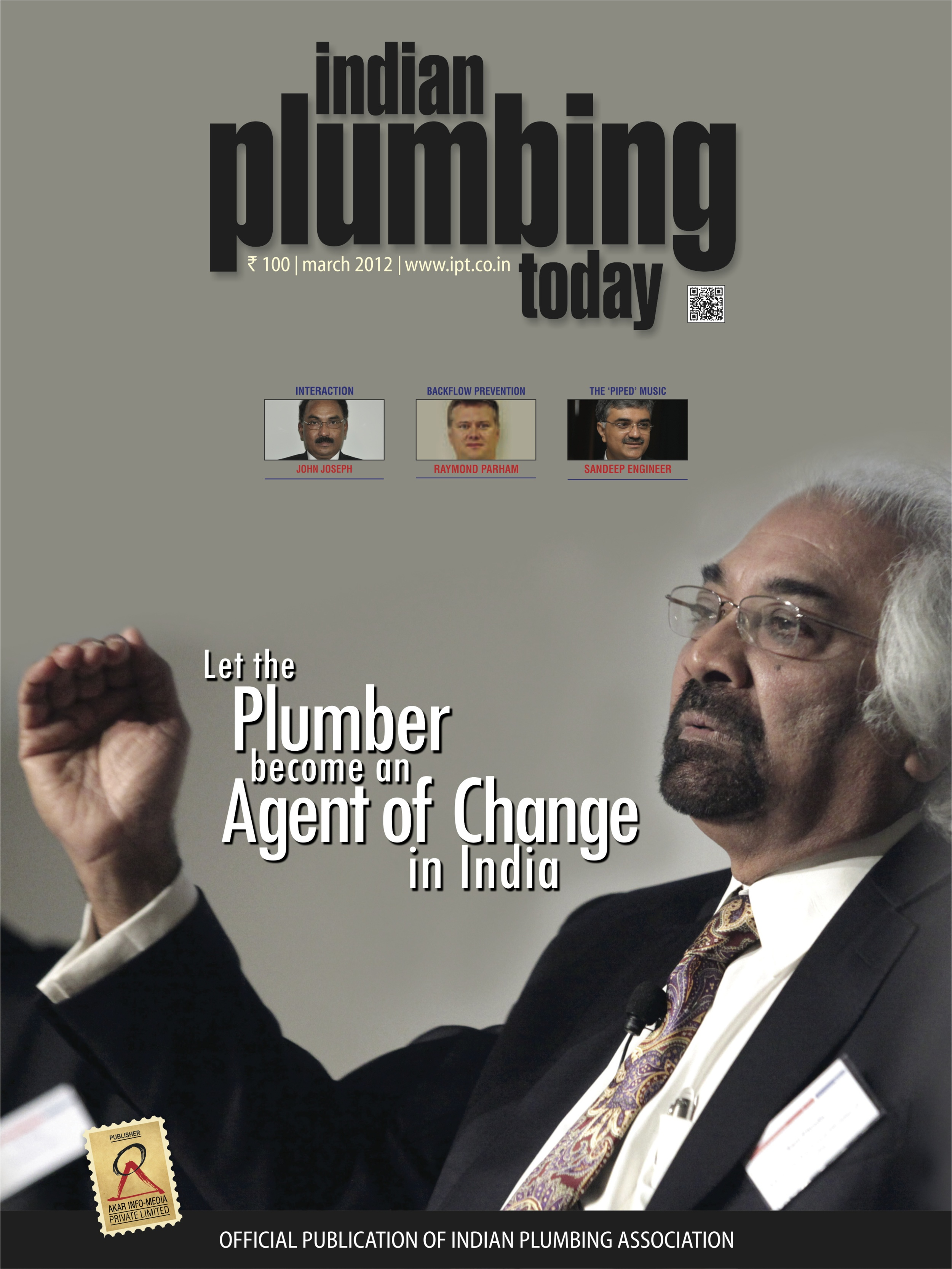 """Let the Plumber Become an Agent of Change in India,"" Indian Plumbing Today, 2012"