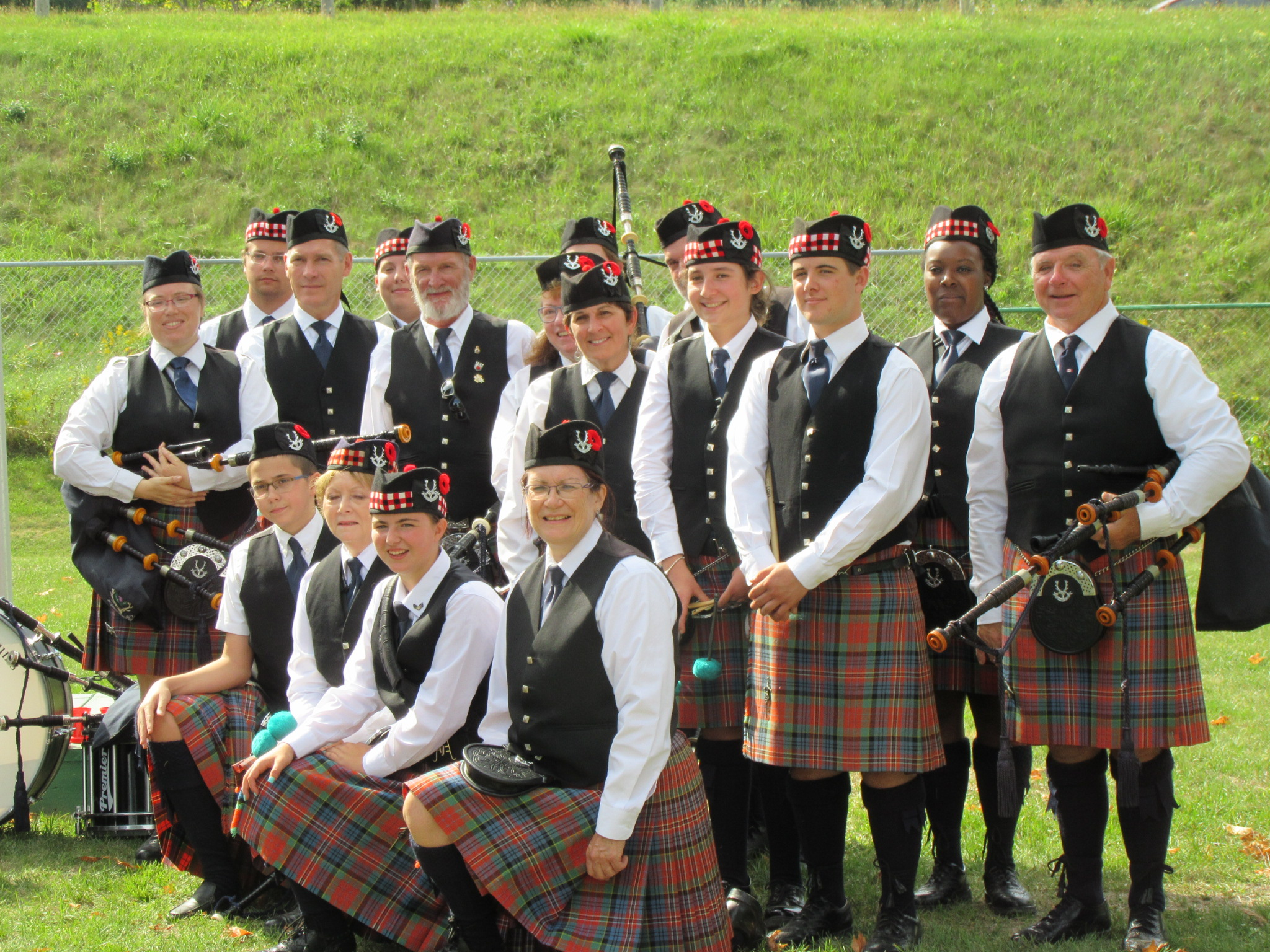 White Heather Pipes and Drums - Aurora Cemetery Candlelight/Drumhead Ceremony