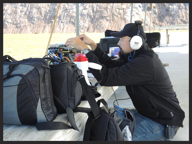 Watson Wu field recording firearms. So much gear!