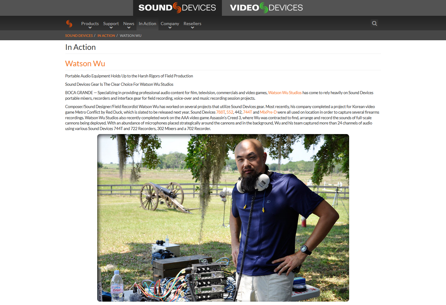 """SoundDevices.com's new """"  In Action  """" page!"""