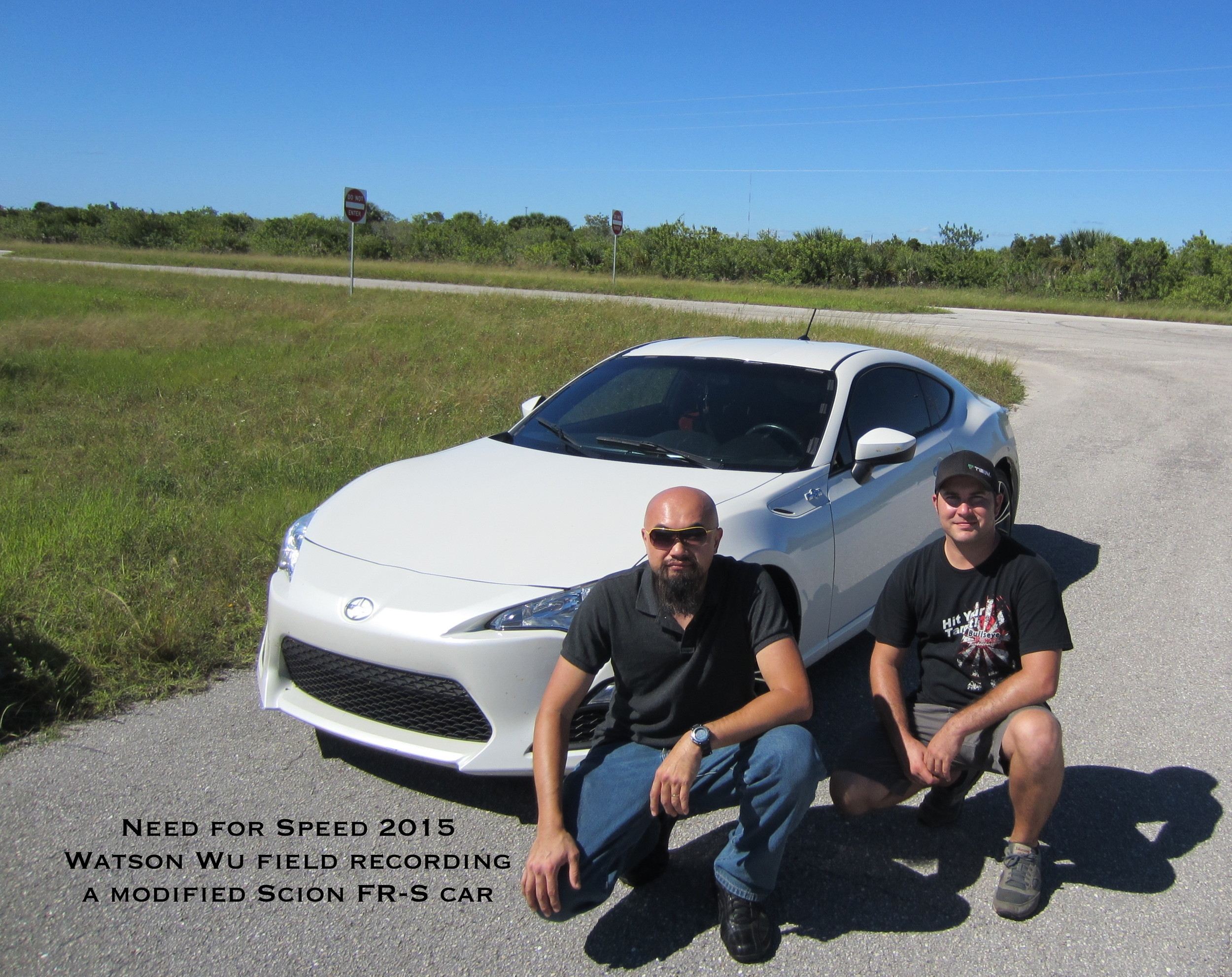 Watson field recording a modified Scion FR-S sports car. Derrick DuMont is the tuner & driver.