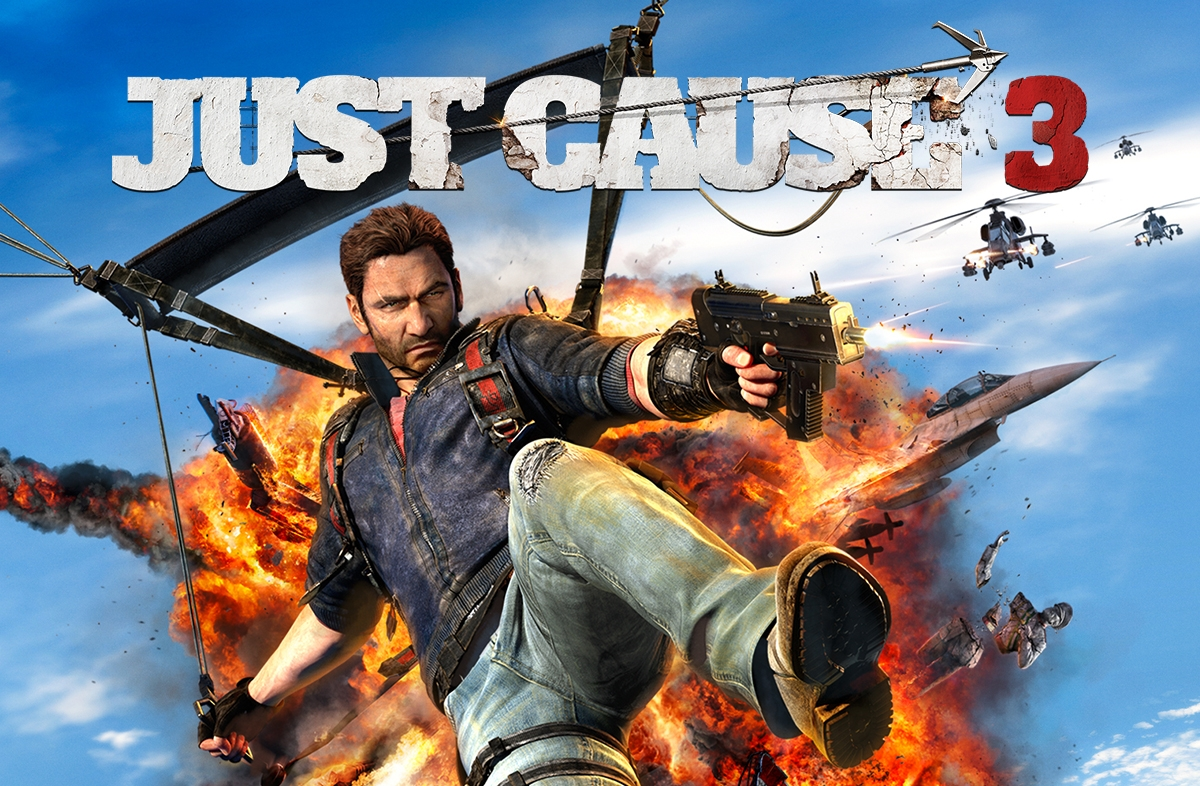 Just Cause 3 video game is available for XBox One, Playstation 4, and PC.
