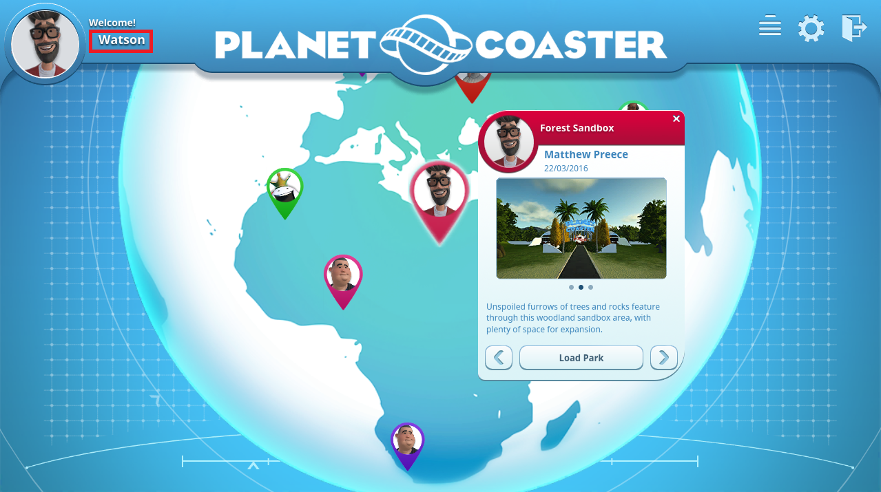 Planet Coaster video game (Early Bird Alpha Edition)