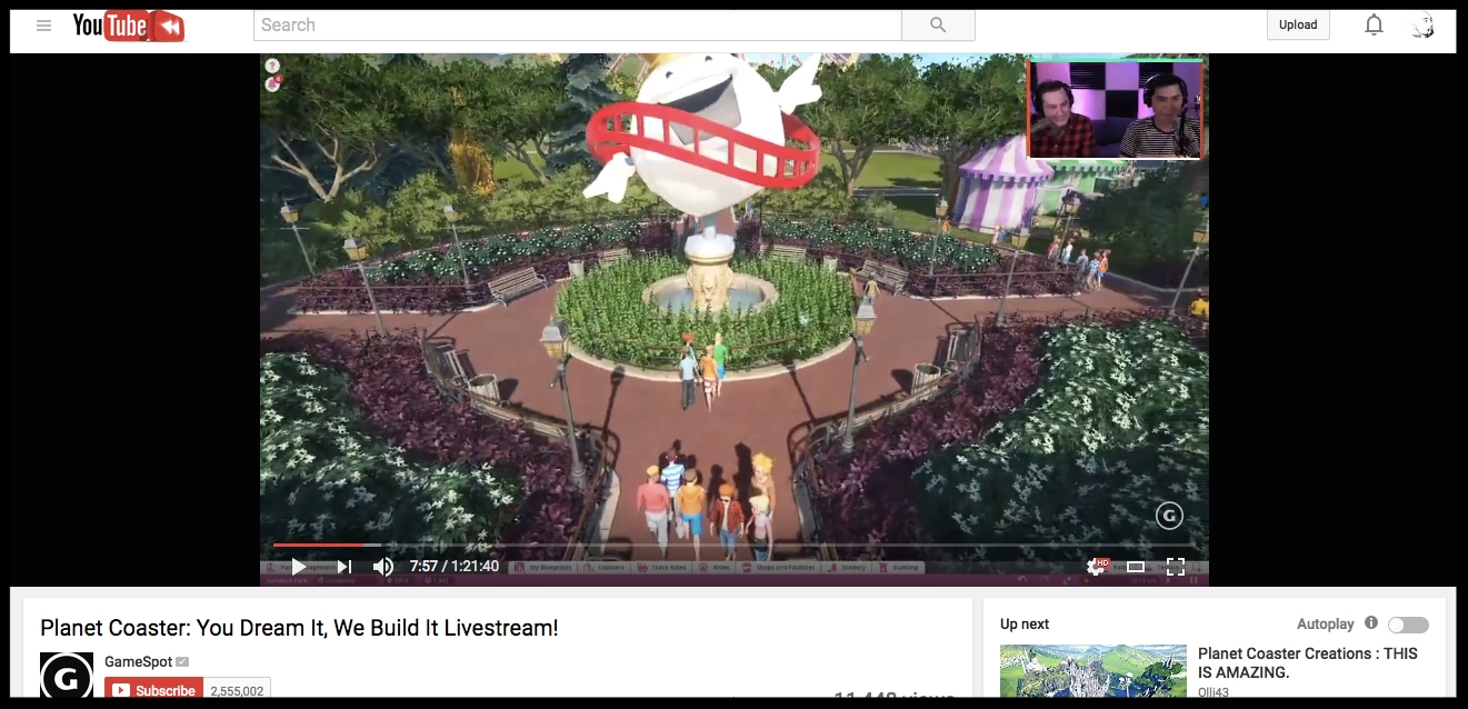 GAMESPOT'S VIDEO REVIEW OF PLANET COASTER GAME, BY FRONTIER DEVELOPMENTS