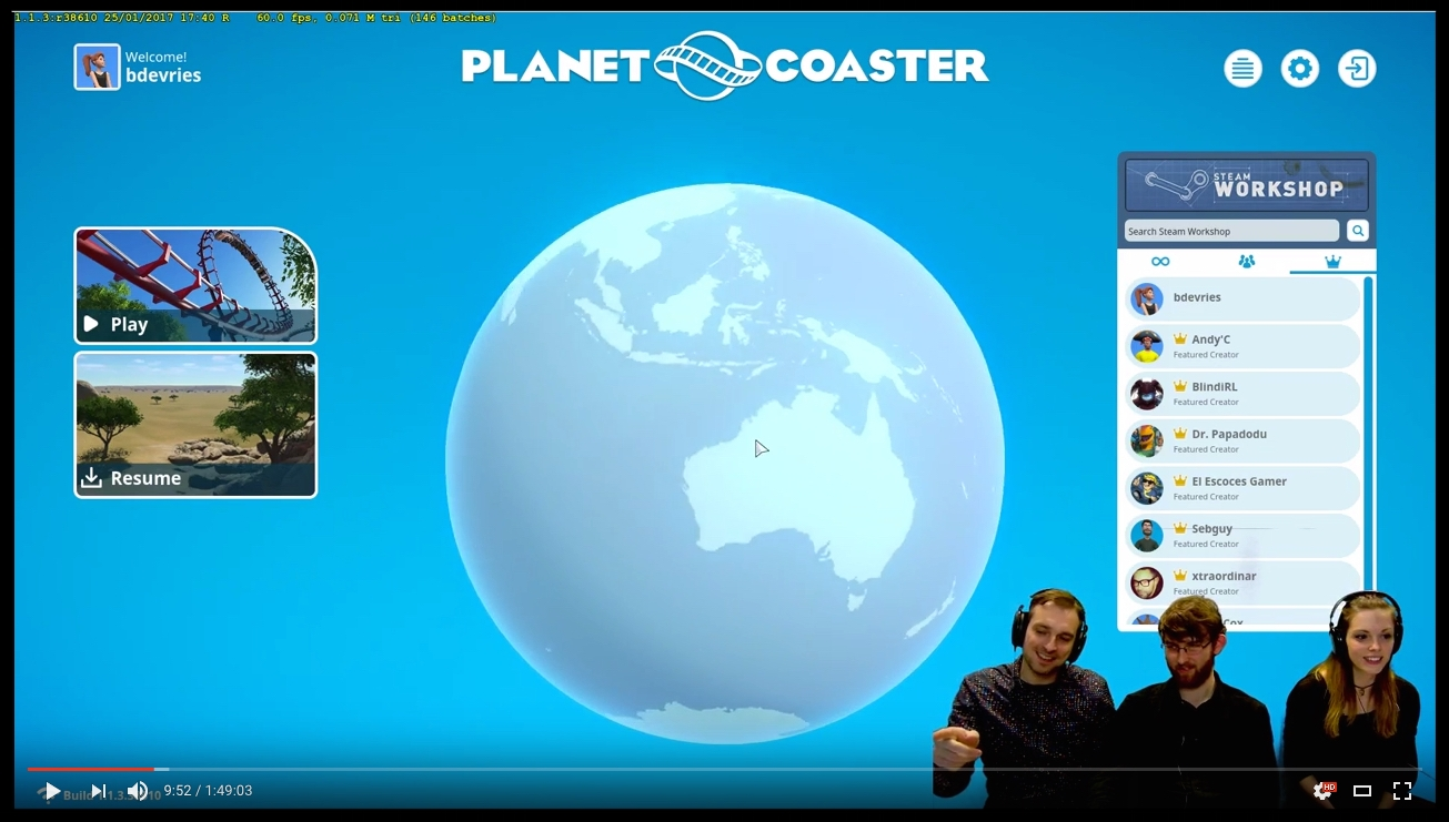 Click   HERE   to watch the entire video. To hear about my coaster recordings, go to time frame  46:40 .