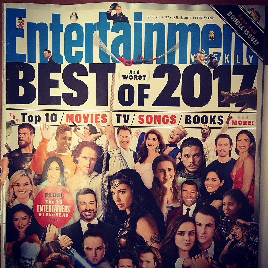 Front page of ENTERTAINMENT WEEKLY magazine (Dec 2017/Jan 2018 issue)