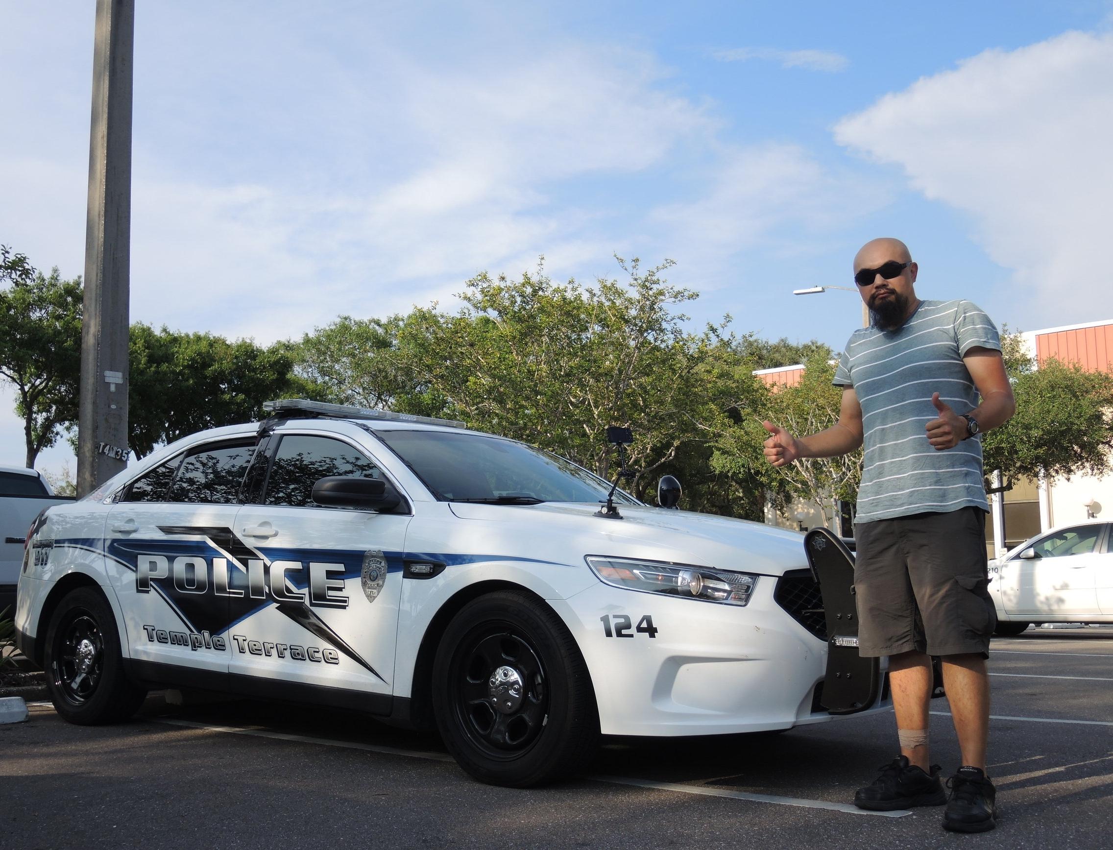 Watson & Police Car