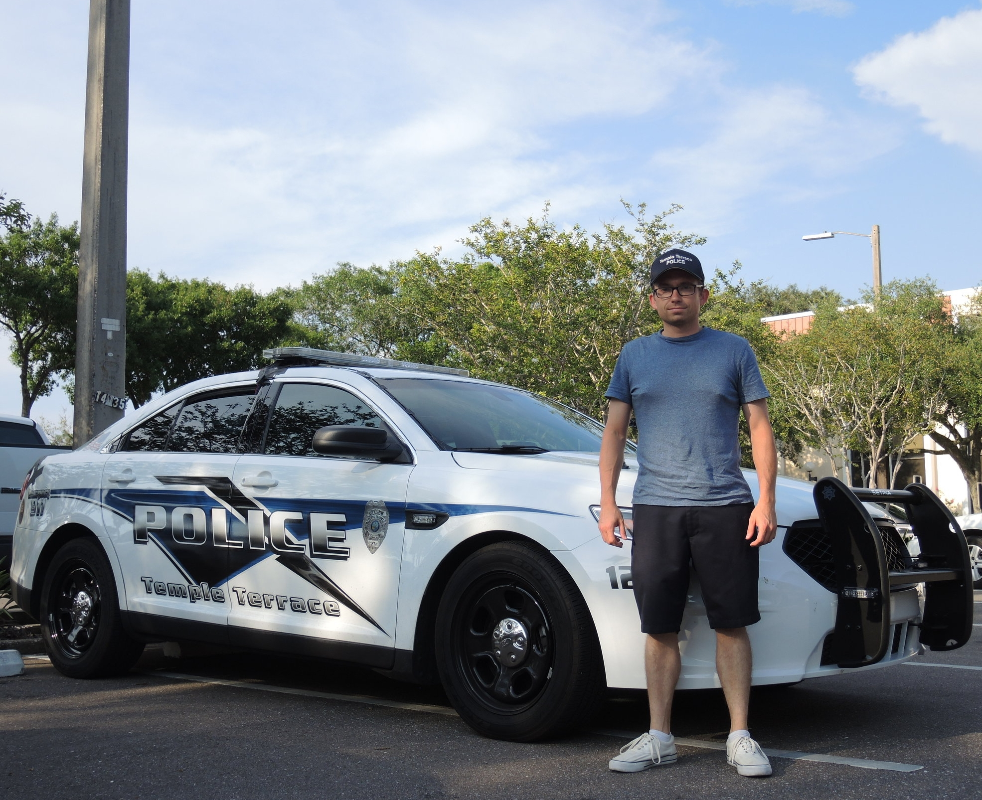 Officer Courtney & his Police Intercepter car