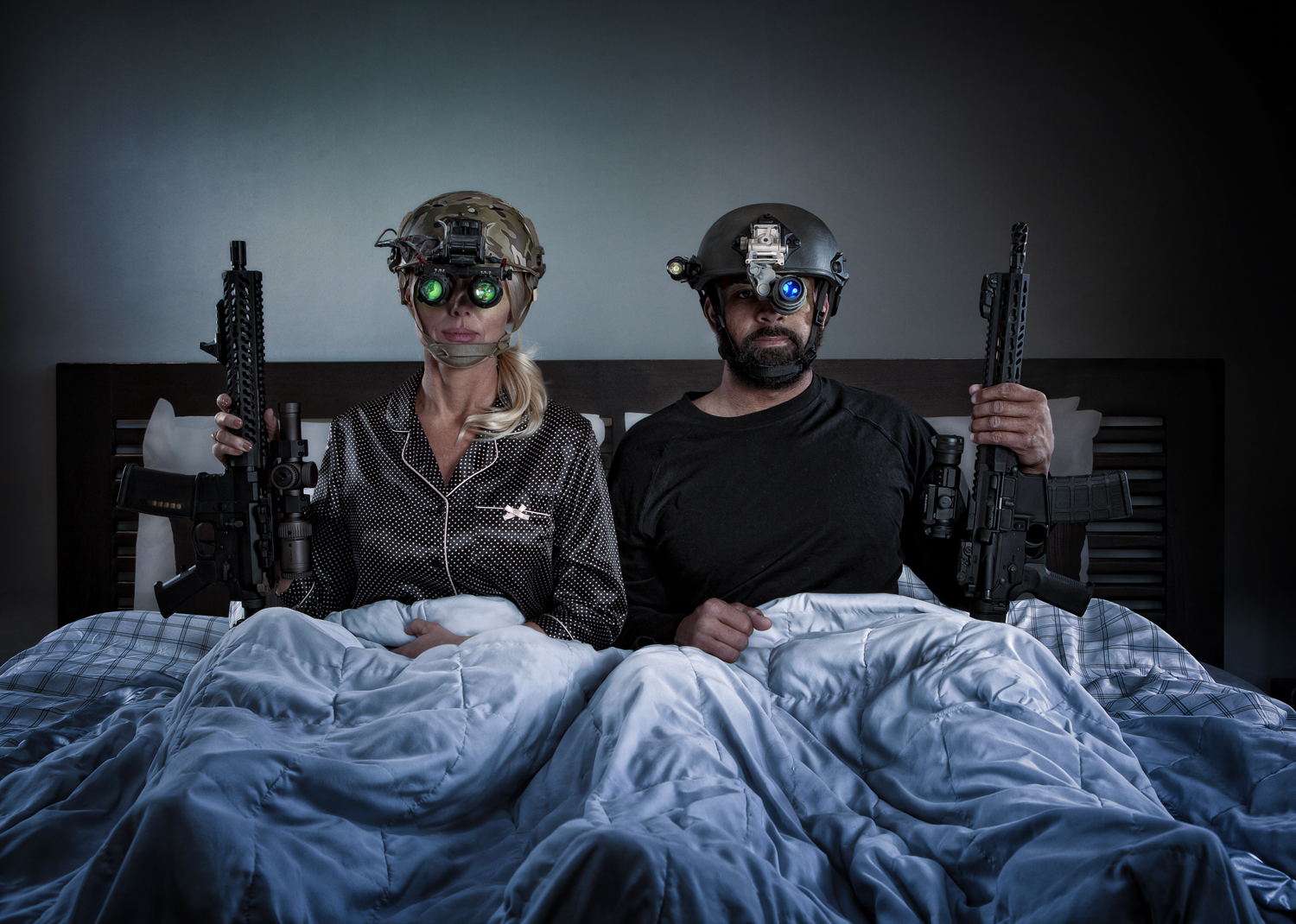 "The first time my husband suggested we stay home for our date and ""rehearse low-light scenarios,"" I imagined doing 2-person room clears through the kitchen and den wearing night vision gear."
