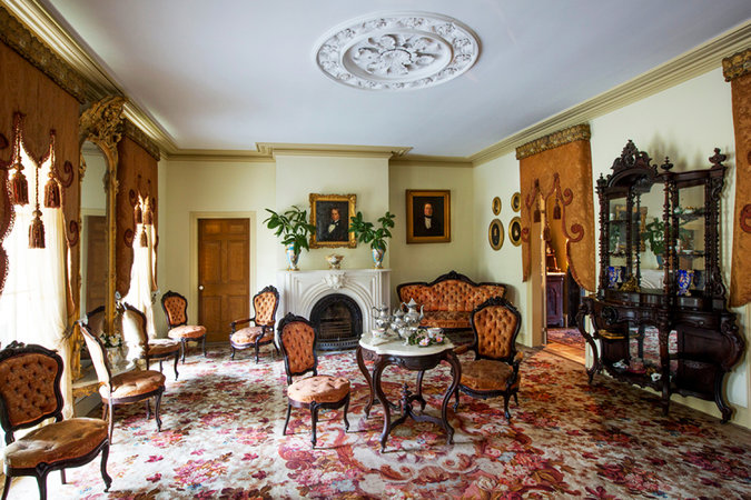 """In the New York Times Antiques column, Eve M. Kahn covers the exciting acquisition of the parlor contents at Butler Greenwood by the New Orleans Museum of Art. The CIS cataloged the contents of Butler Greenwood during the first Summer Survey in 2011.  Link:  """"Butler Greenwood's Plantation Parlor Goes to New Orleans,"""" The New York Times, 14 August 2014."""