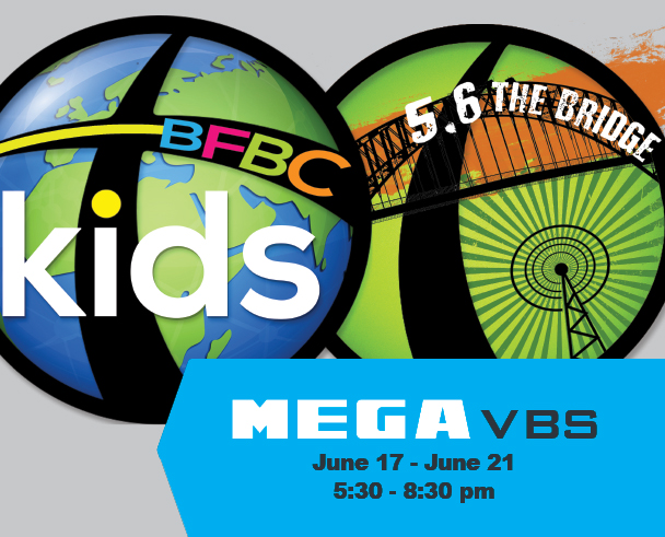MEGA VBS - MEGA VBS = discipleship for the whole church family. Yes, that includes you! Click the button below for more info or to register.