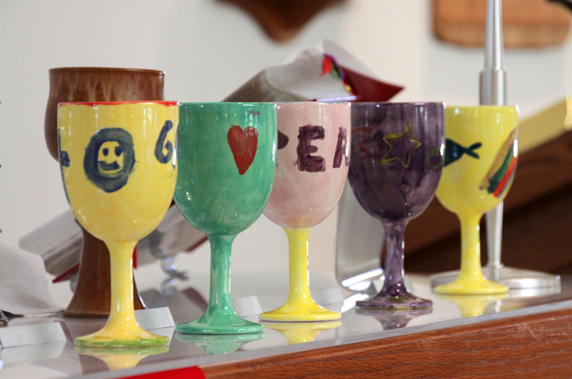 Participants create their own chalice