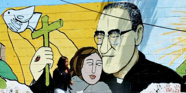 Mural of Oscar Romero in El Salvador.