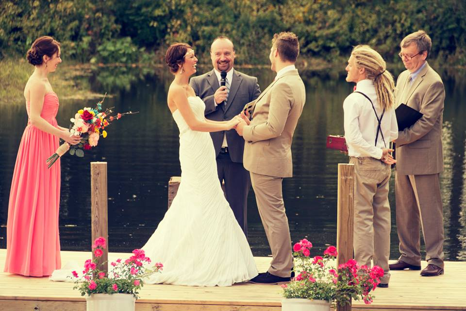 Photo Credit: Josh Walker  (Note the amazing job I did on those trousers. I basically saved the wedding.)