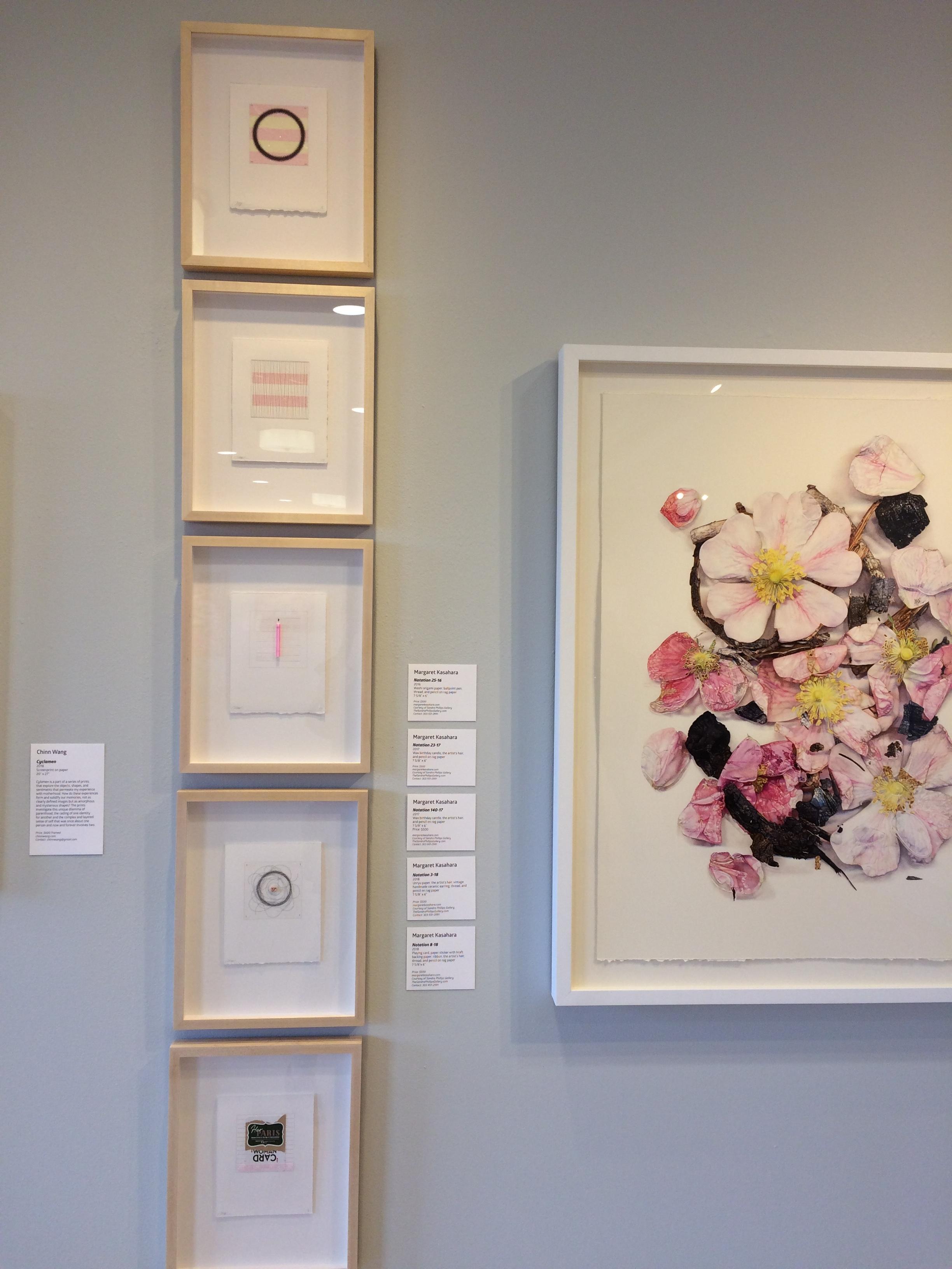 Margaret Kasahara -  Notation  series - Multimedia and Anna Kaye -  Rosa woodsii  - Watercolor on Paper