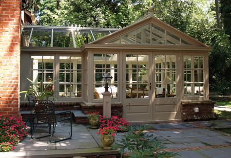 Hard wood conservatory in Huntington Bay, NY