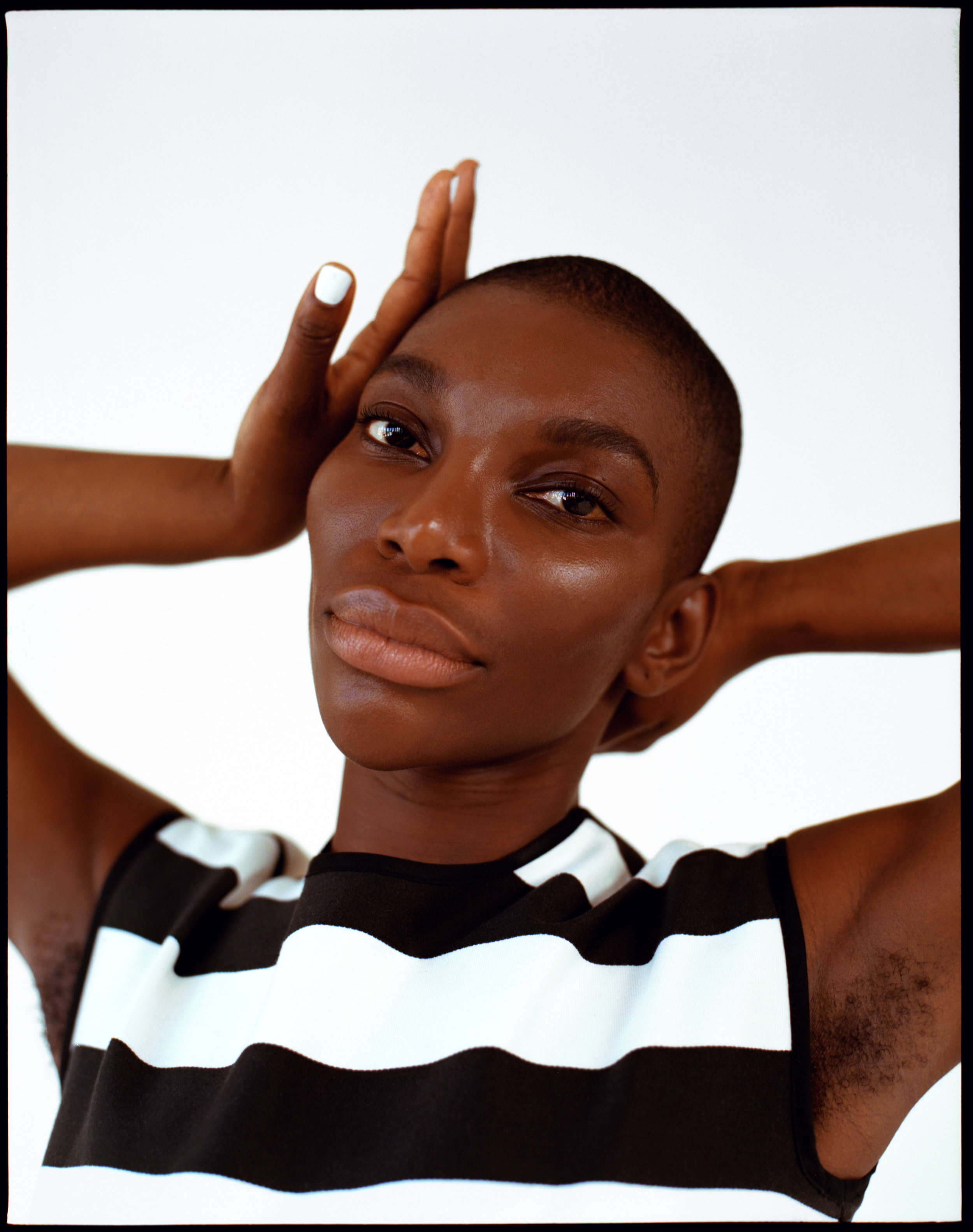 Michaela Coel cover story for Roundtable Journal Issue 3.  Styling - Simone Konu