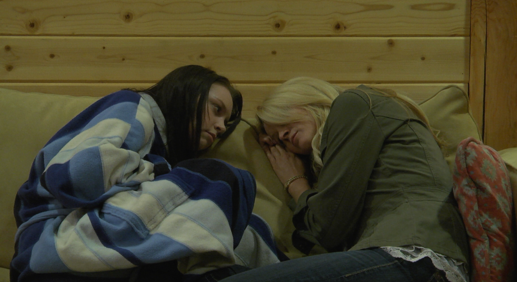 Shelby Wilson as Liv and Rosalie Michaels as Martina in a scene from  Pale Trees .