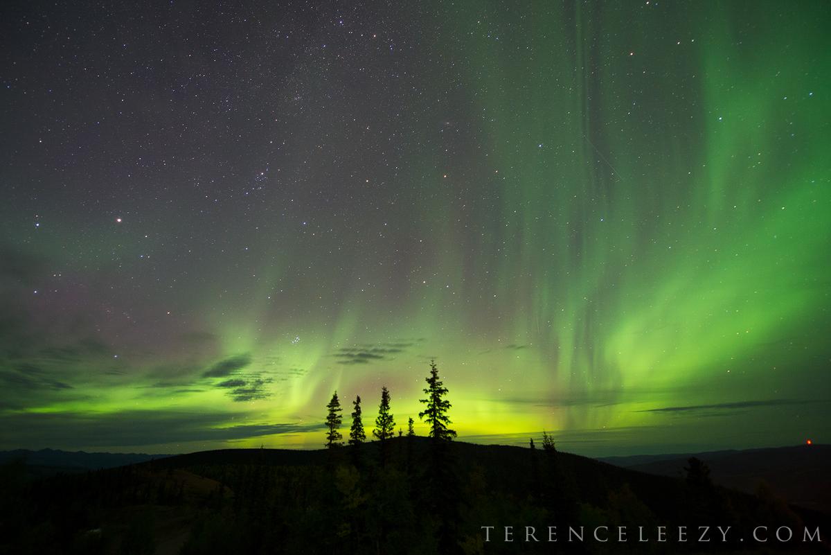 Aurora from Midnight Dome