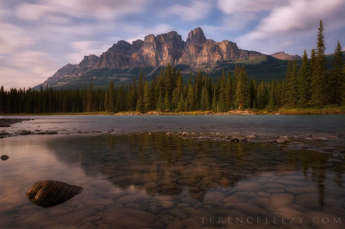 24mm f/16 30s iso100. Castle Mountain, Banff, Canada.